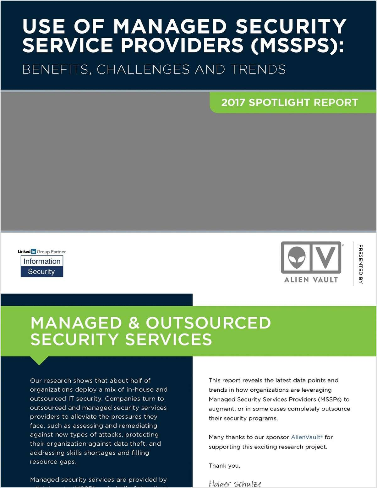 2017 Spotlight Report - Use of Managed Security Service Providers (MSSPS)