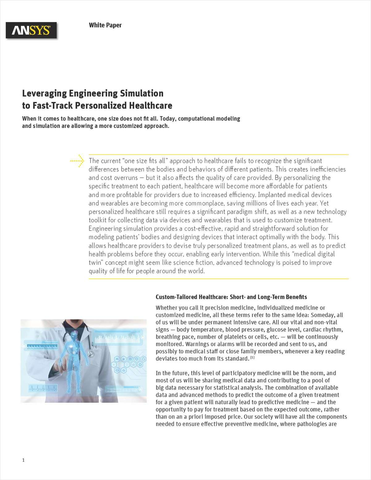 Leveraging Engineering Simulation to Fast-Track Personalized Healthcare