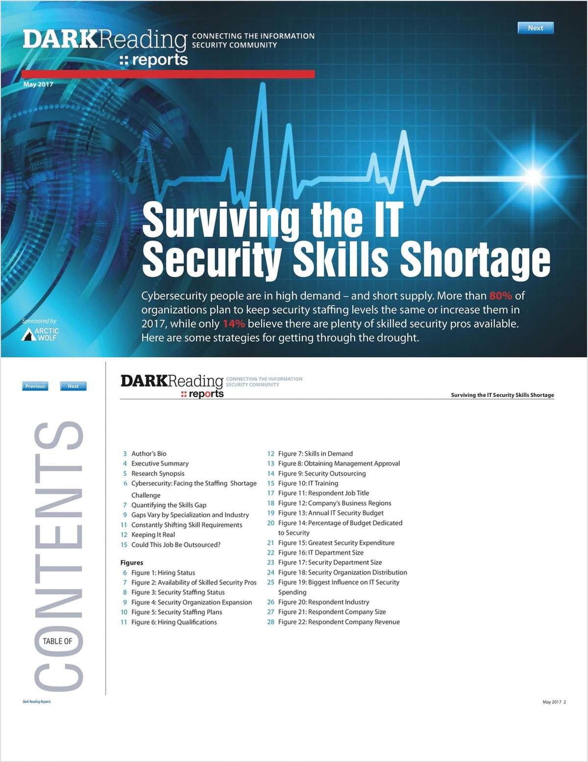 Dark Reading Report: Surviving the IT Security Skills Shortage