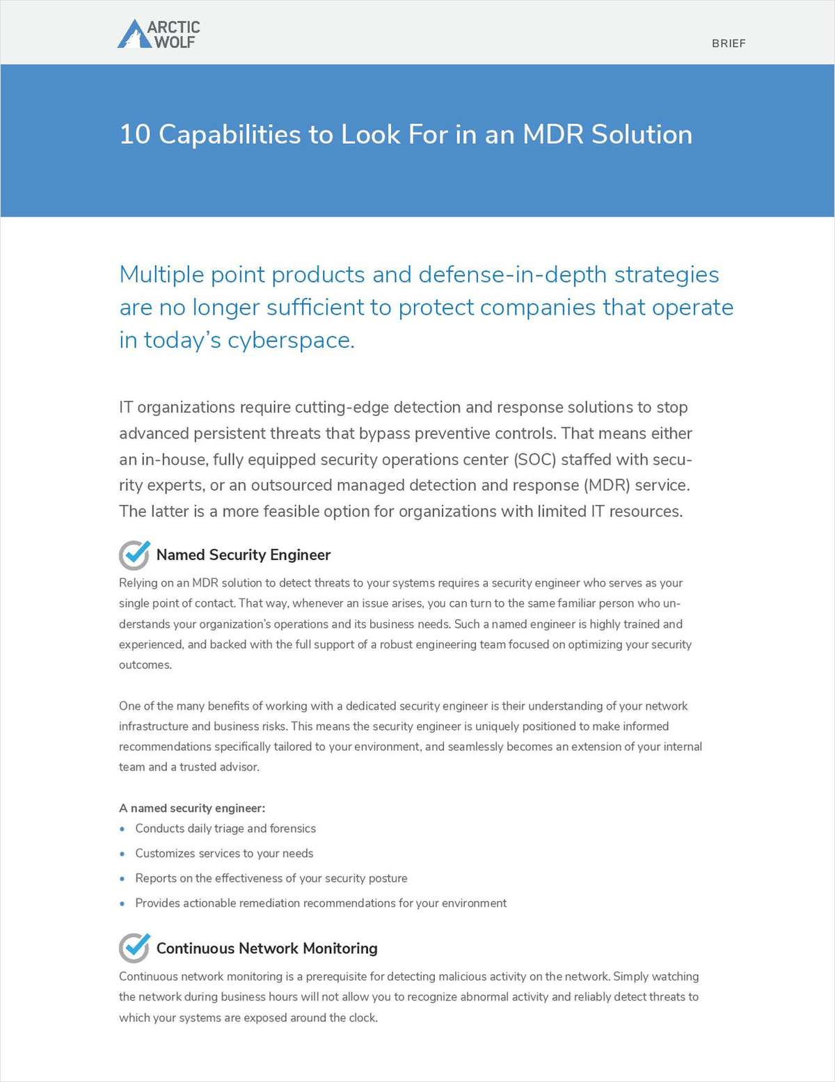 10 Capabilities to Look For in an MDR Solution