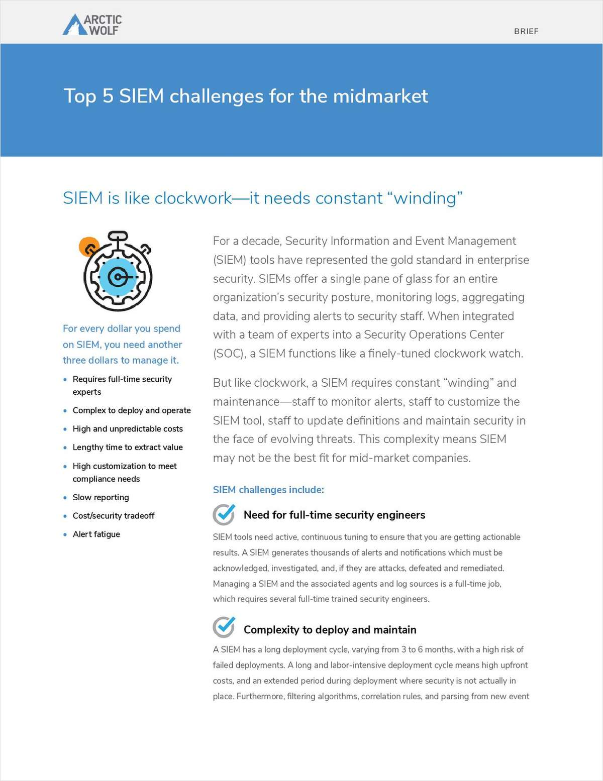 Top 5 SIEM Challenges for the Mid-Market