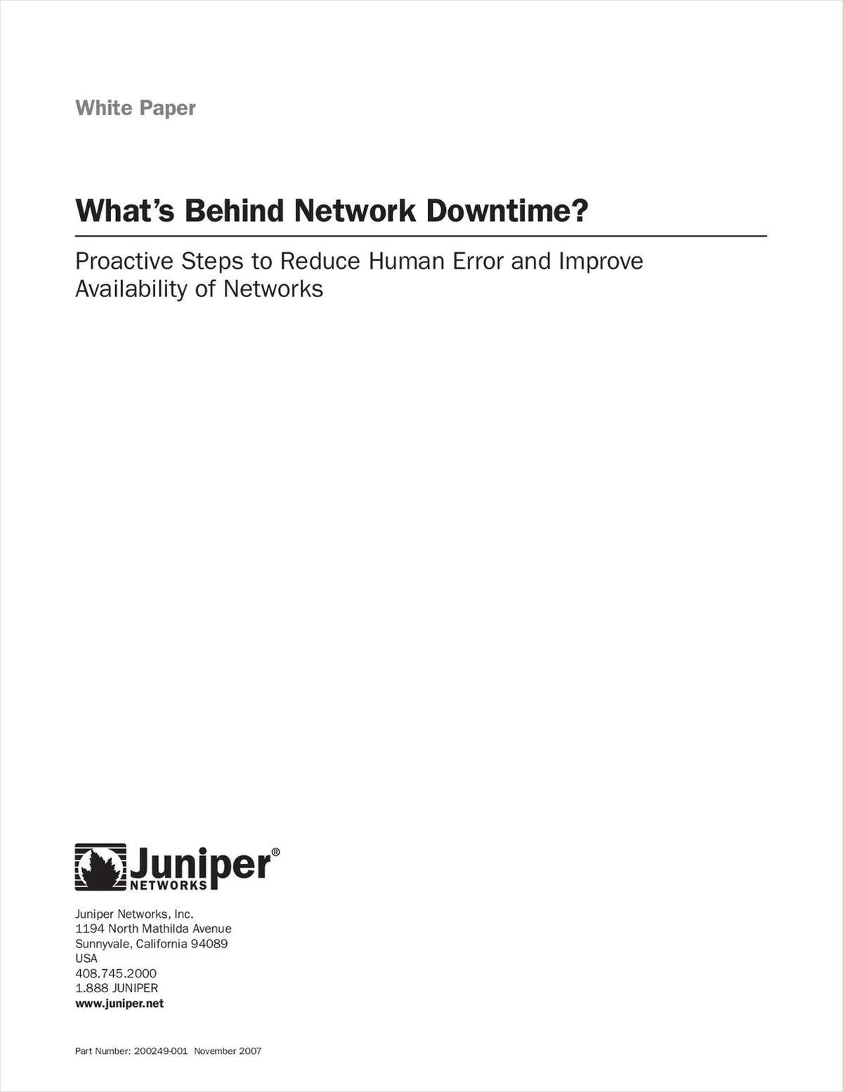Discover What's Behind Network Downtime?