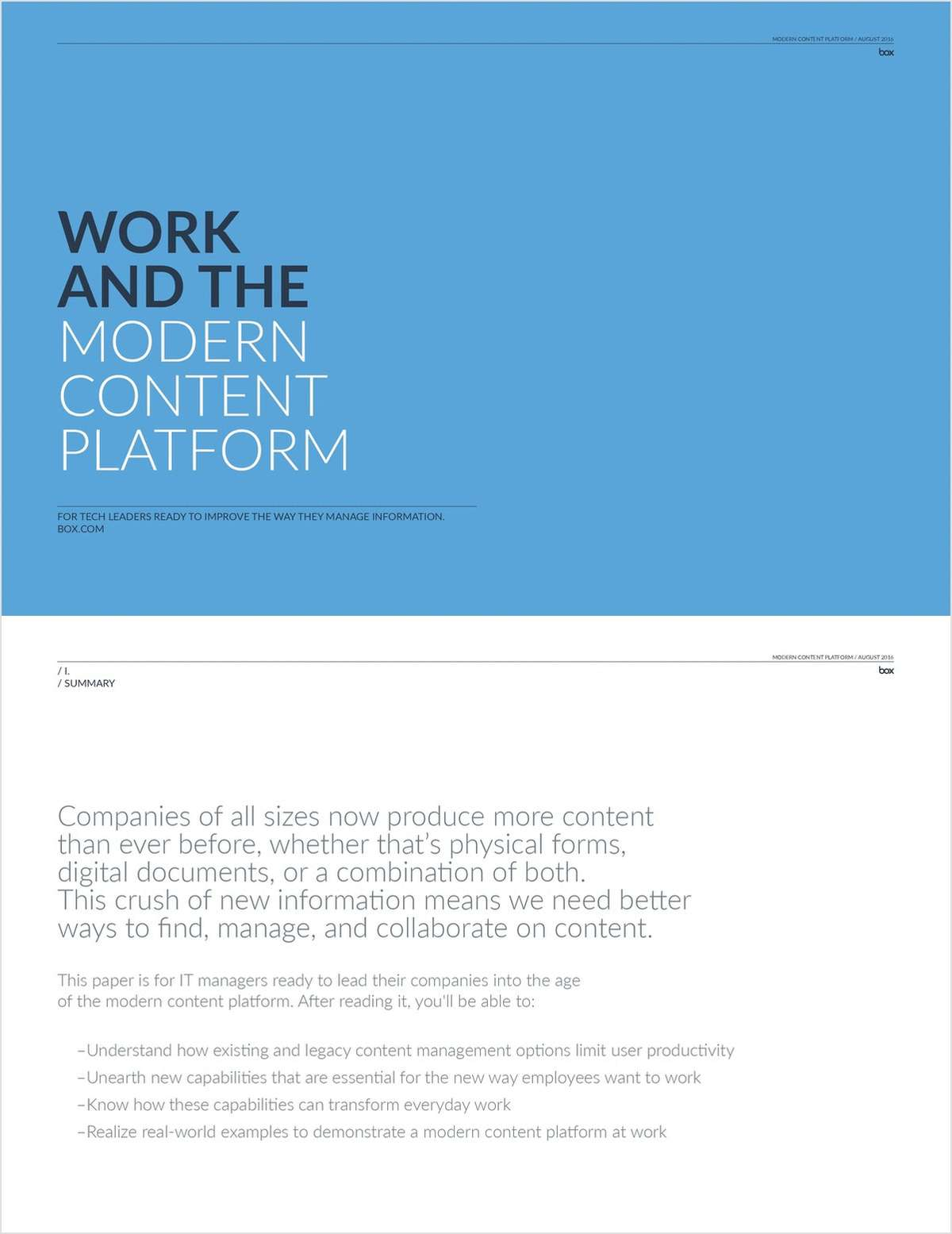 Work and the Modern Content Platform