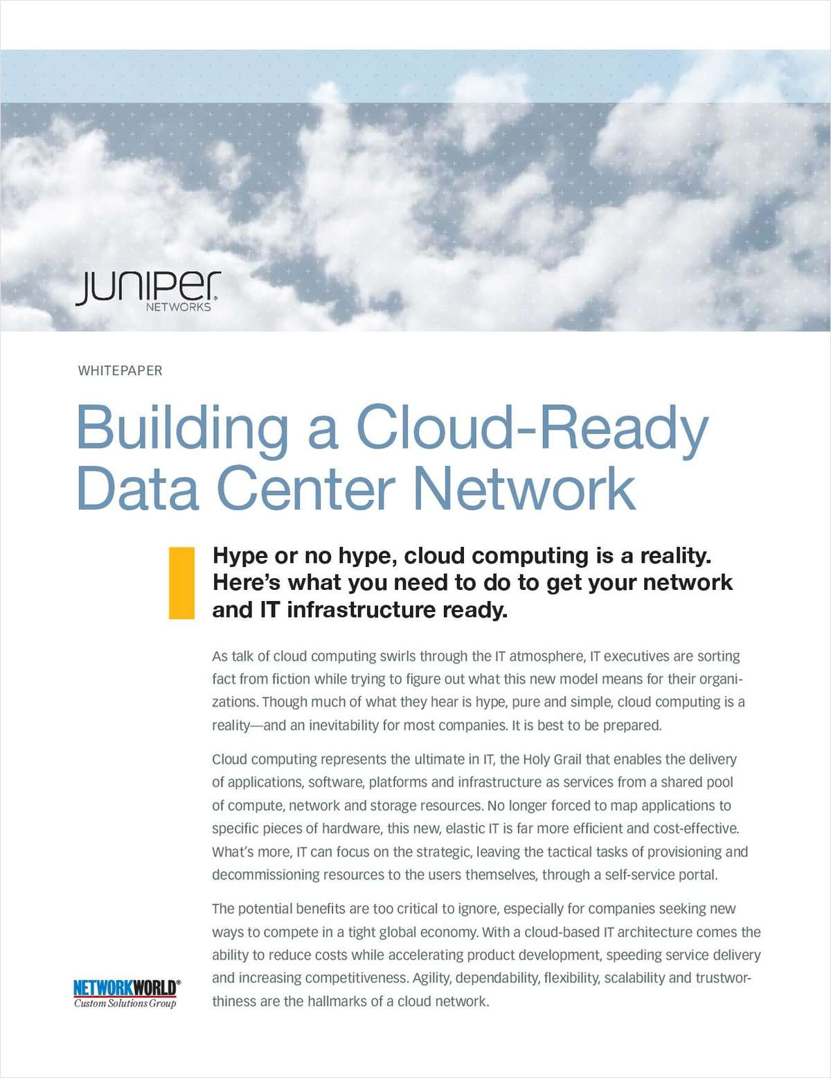 Building a Cloud-Ready Data Center