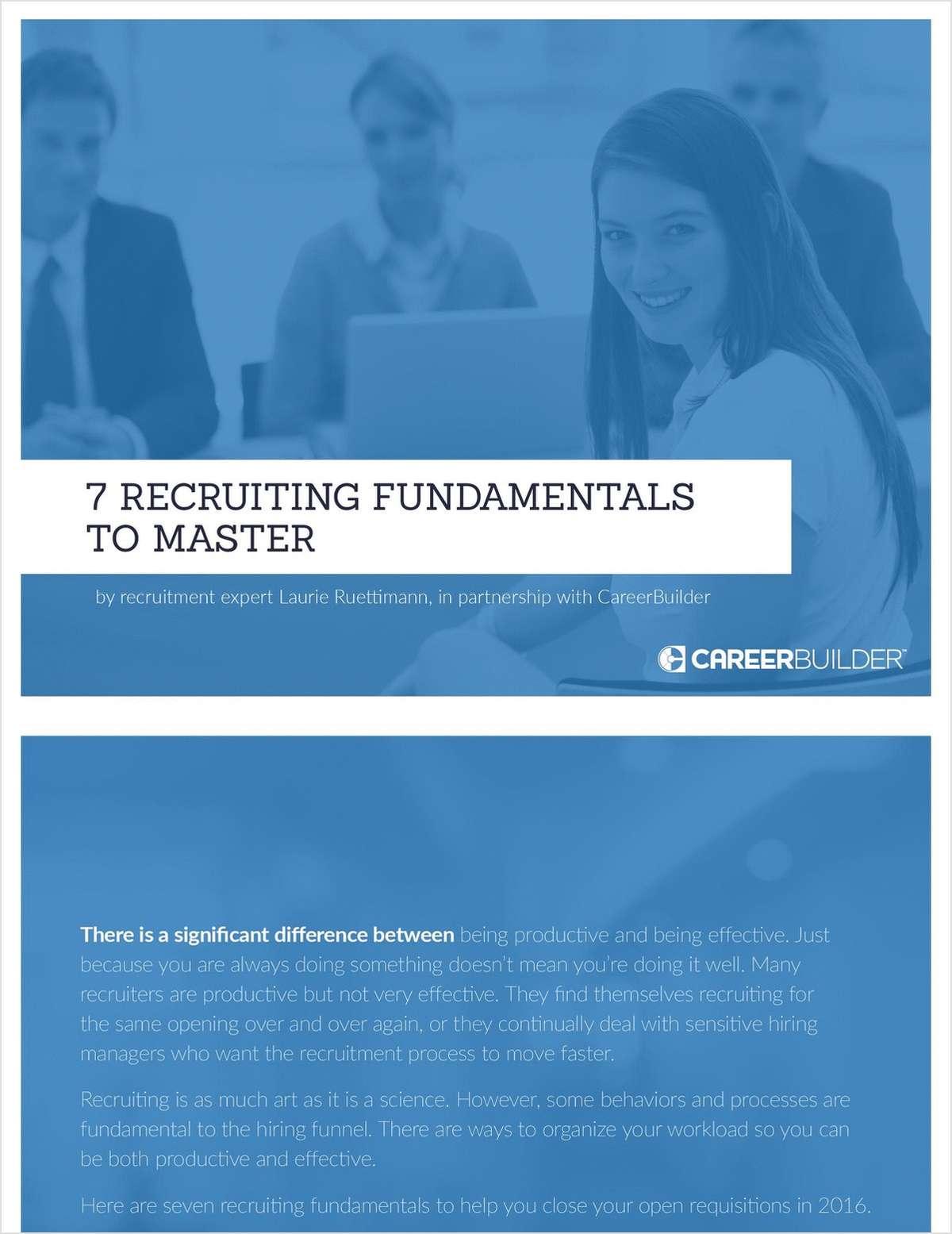7 Recruitment Fundamentals to Master