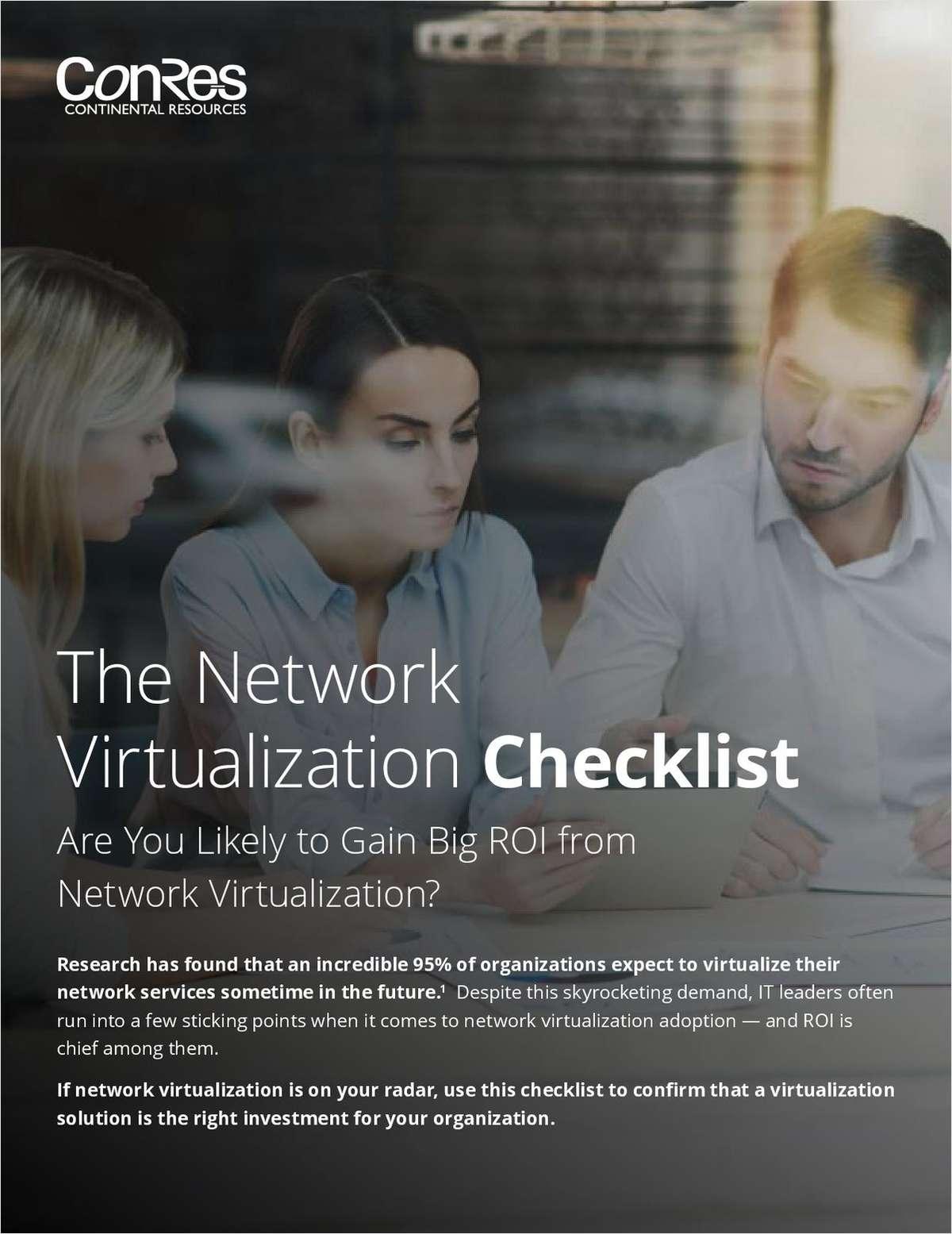 The Network Virtualization Checklist