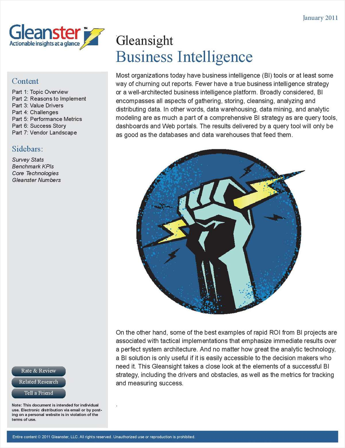 Business Intelligence Best Practices Benchmark Report