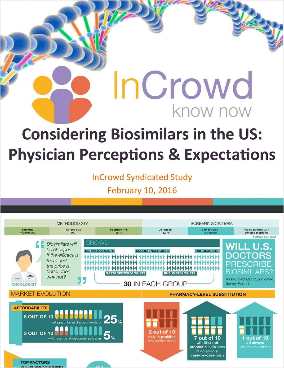 Will US Doctors Prescribe Biosimilars?