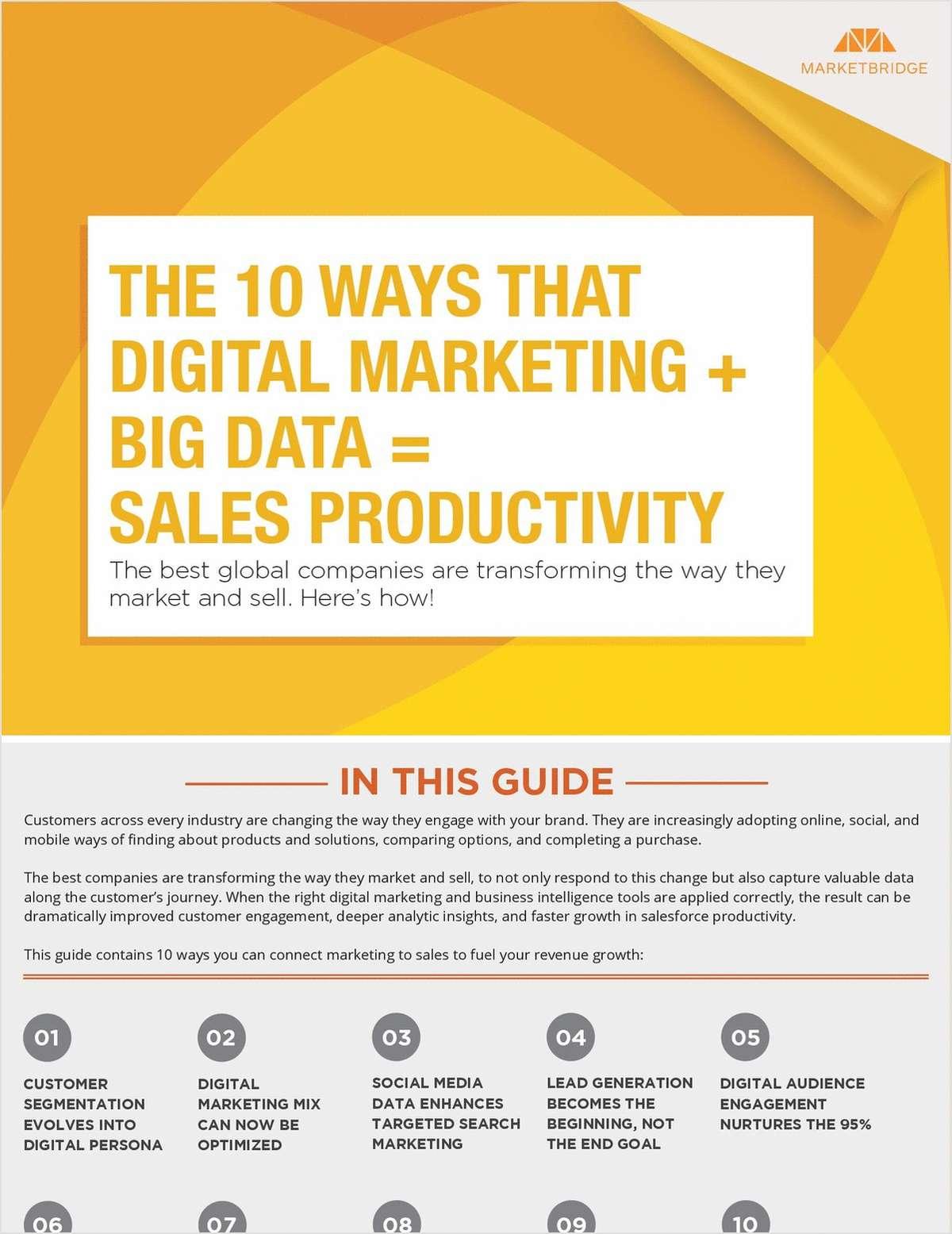 The 10 Ways That Digital Marketing + Big Data = Sales Productivity