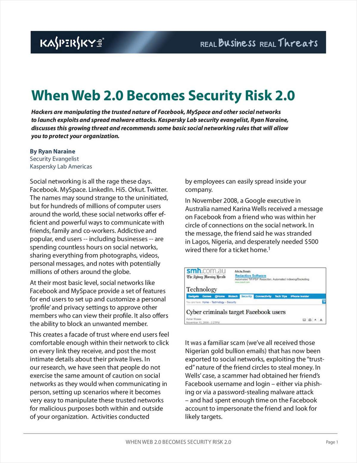 When Web 2.0 Becomes Security Risk 2.0