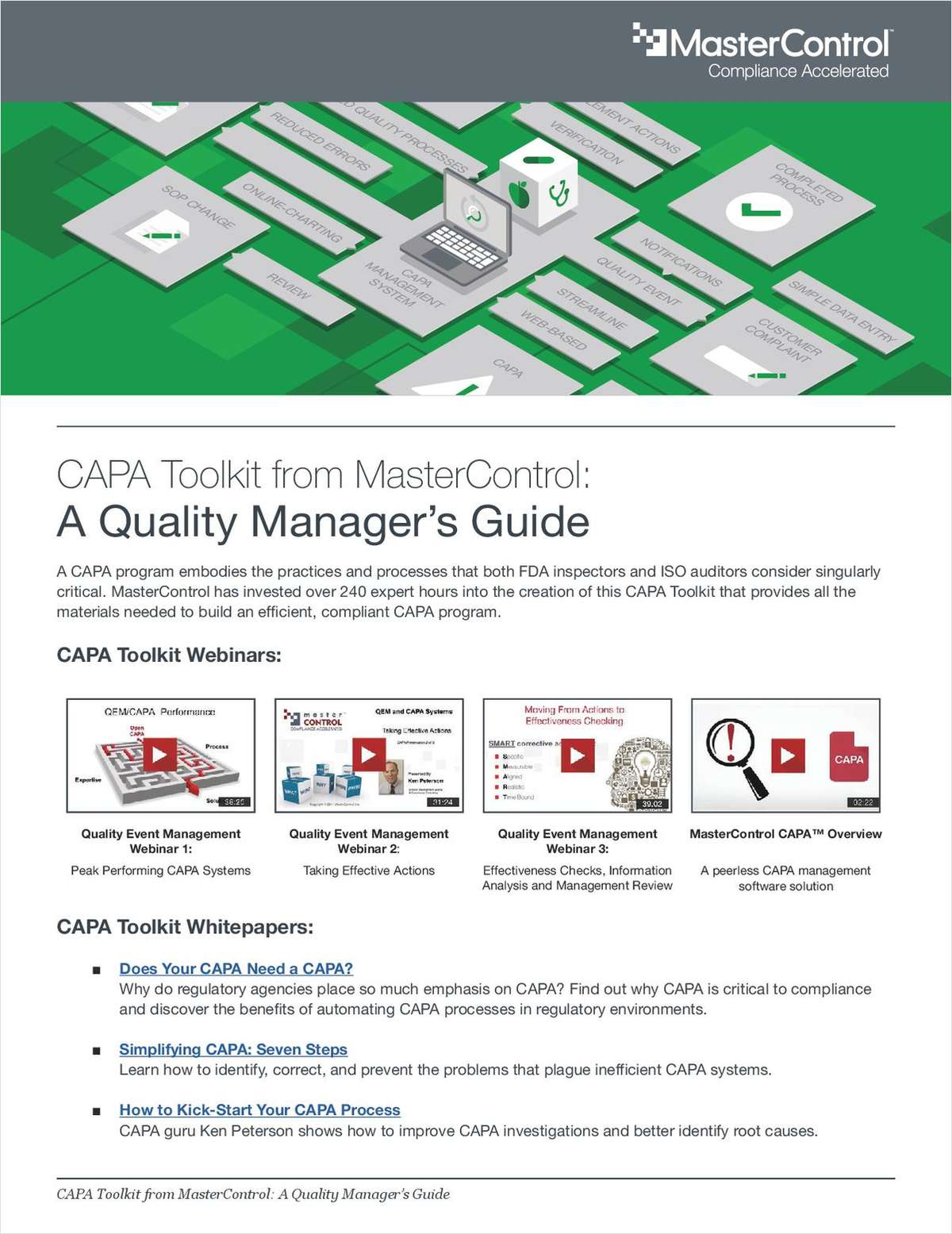 9 Free Resources to Help Device Manufacturers Boost CAPA Management