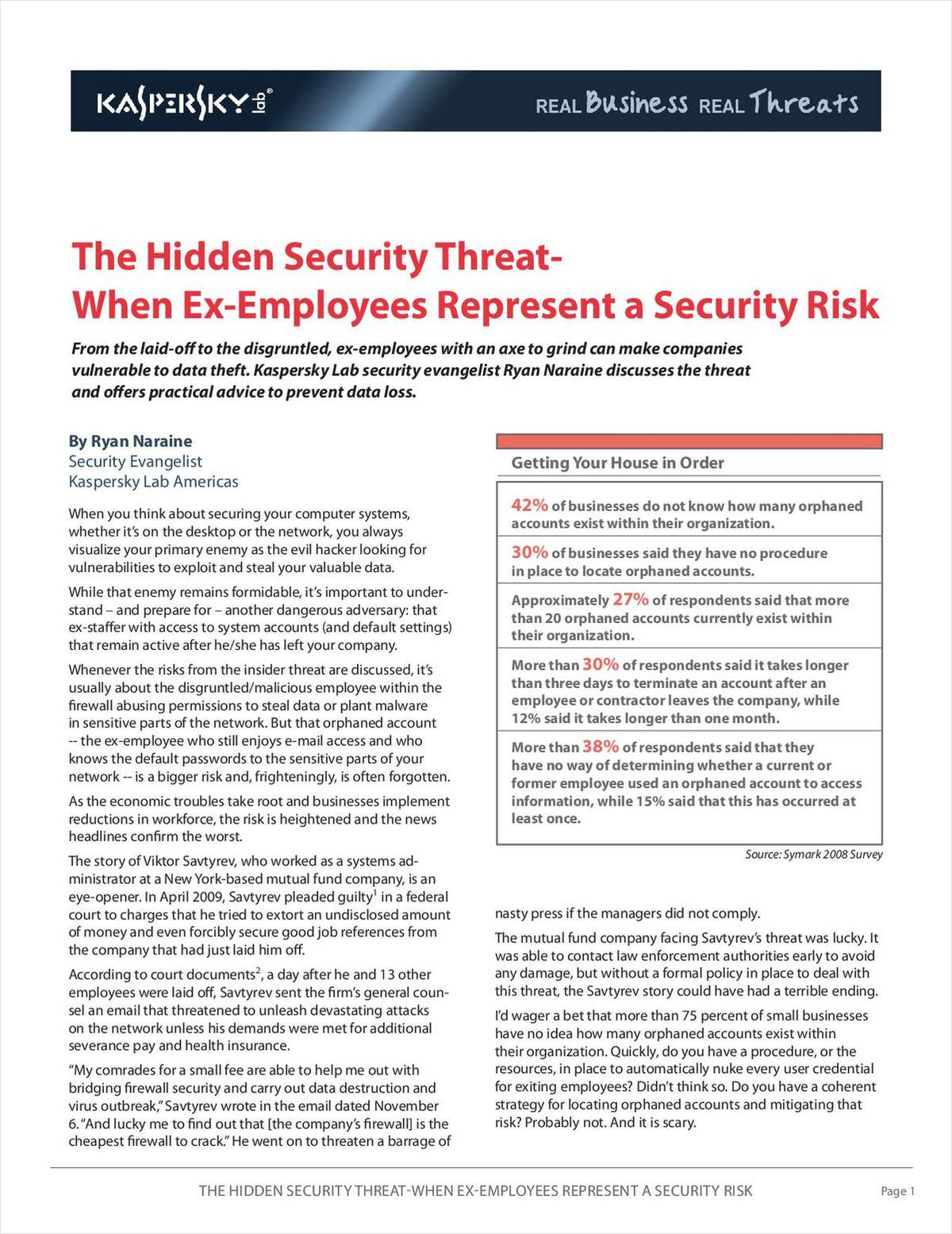 The Hidden Security Threat – When Ex-Employees Represent a Security Risk