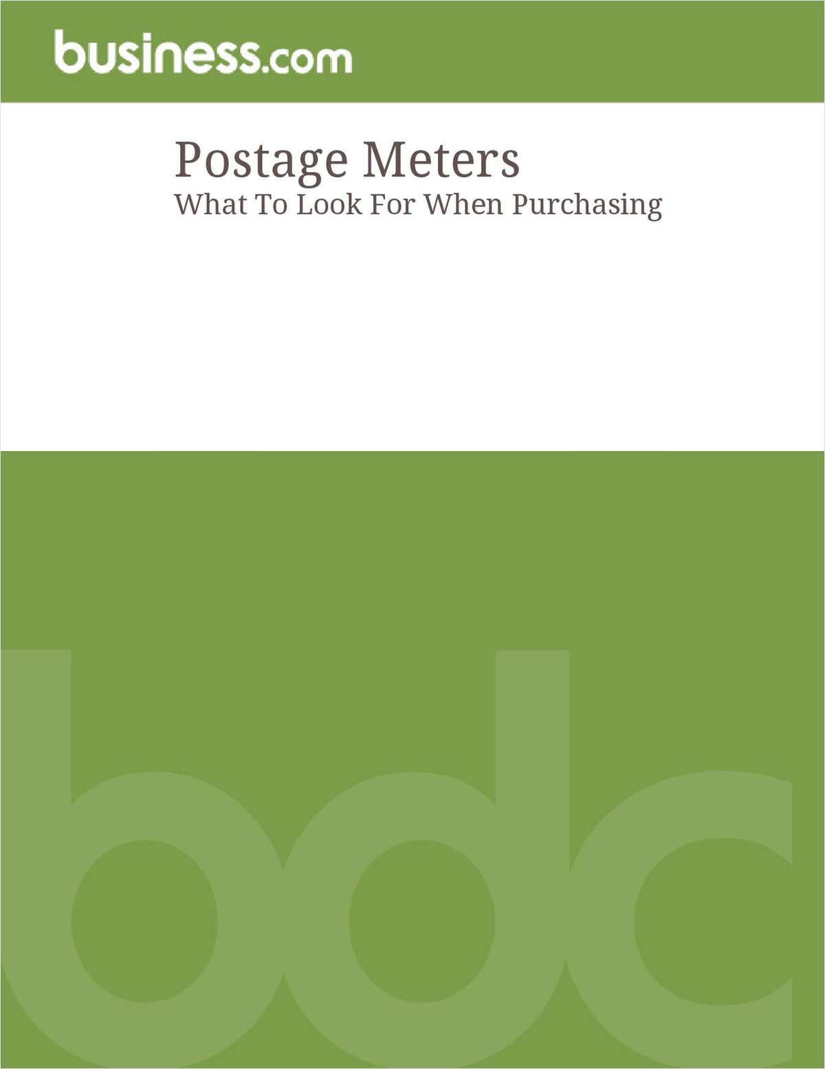 What To Look For When Purchasing A Postage Meter