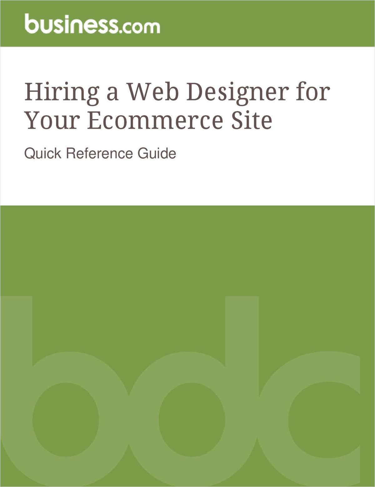 Hiring a Web Designer for Your Ecommerce Site