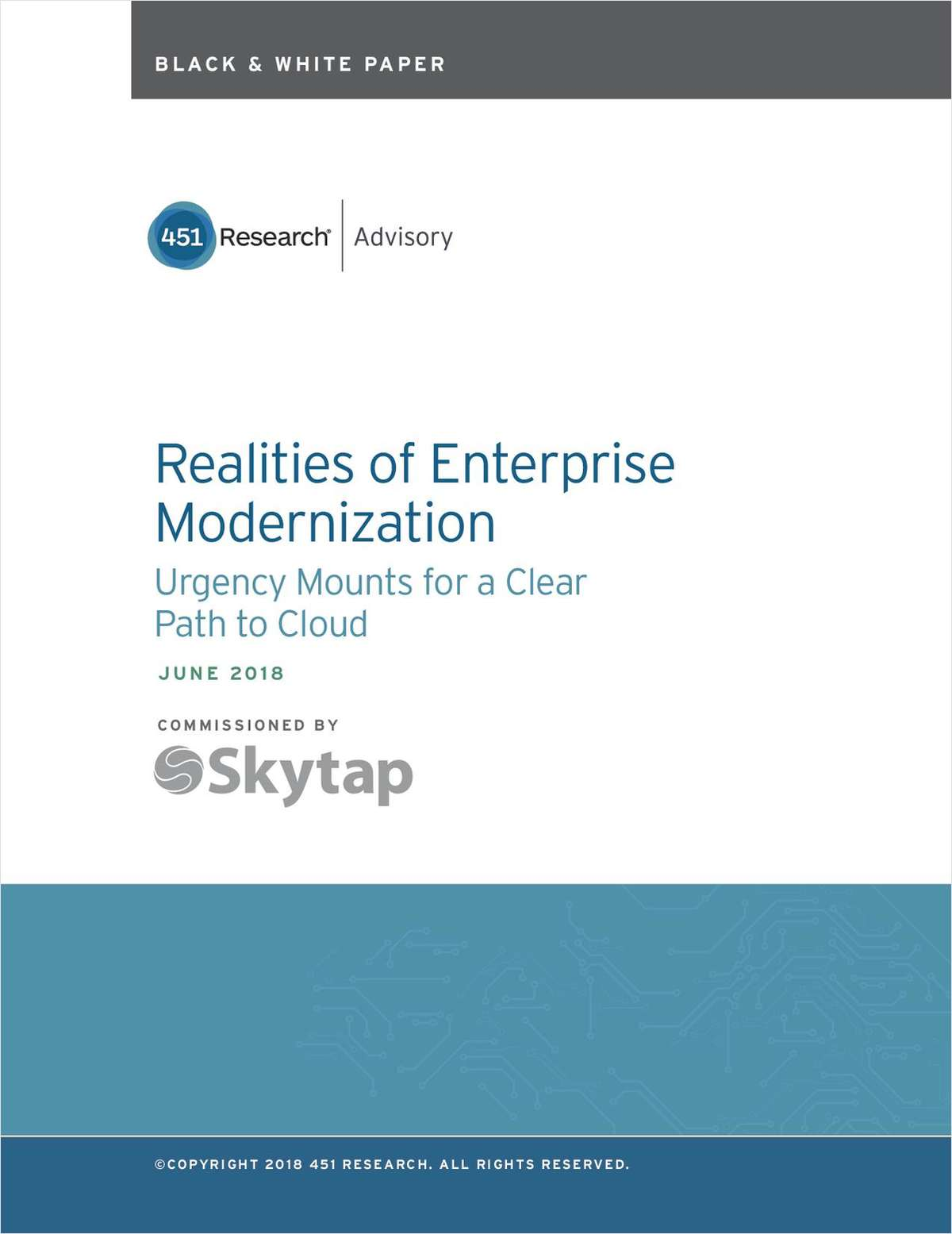 Realities of Enterprise Modernization: Urgency Mounts for a Clear Path to Cloud