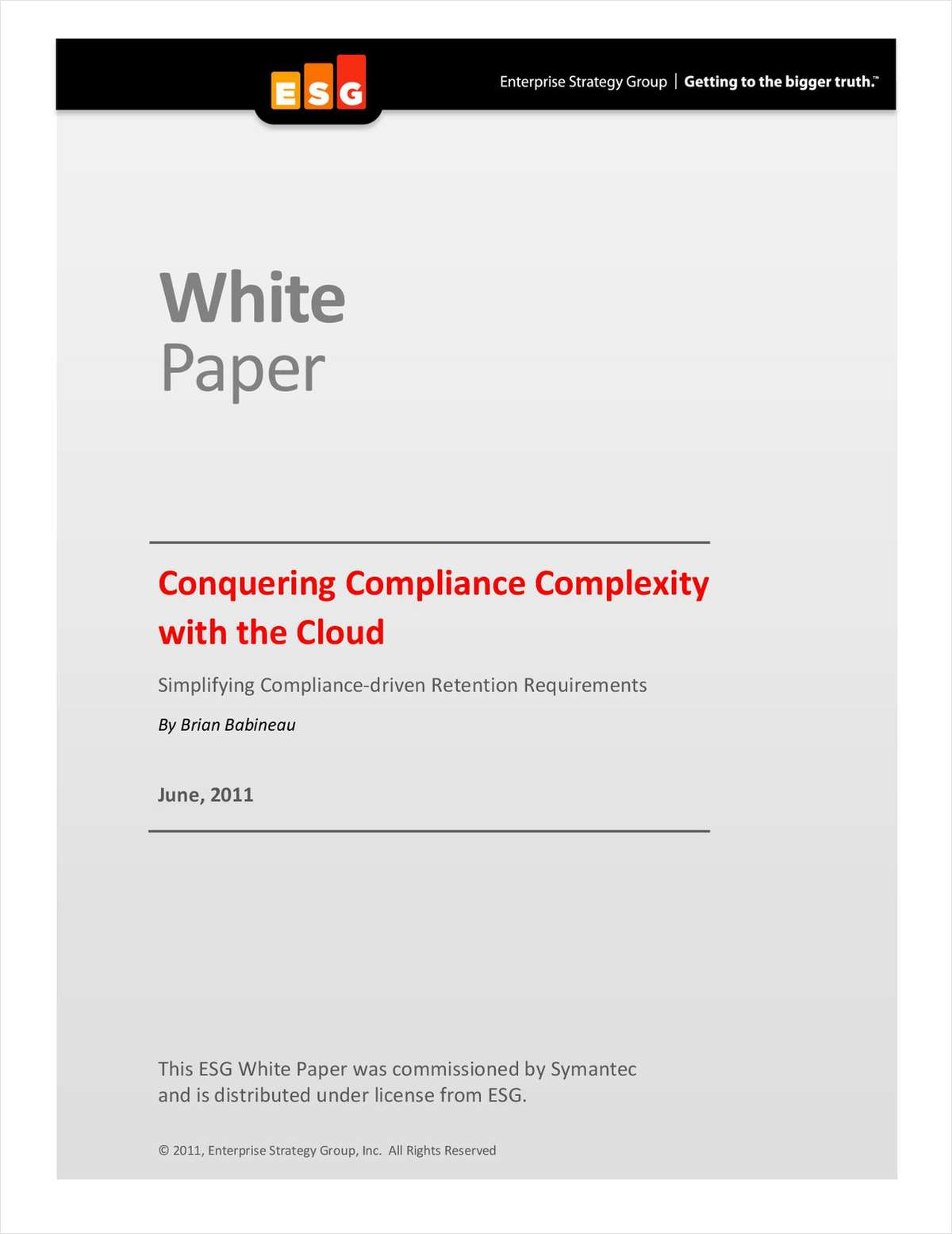 Conquering Compliance Complexity With The Cloud