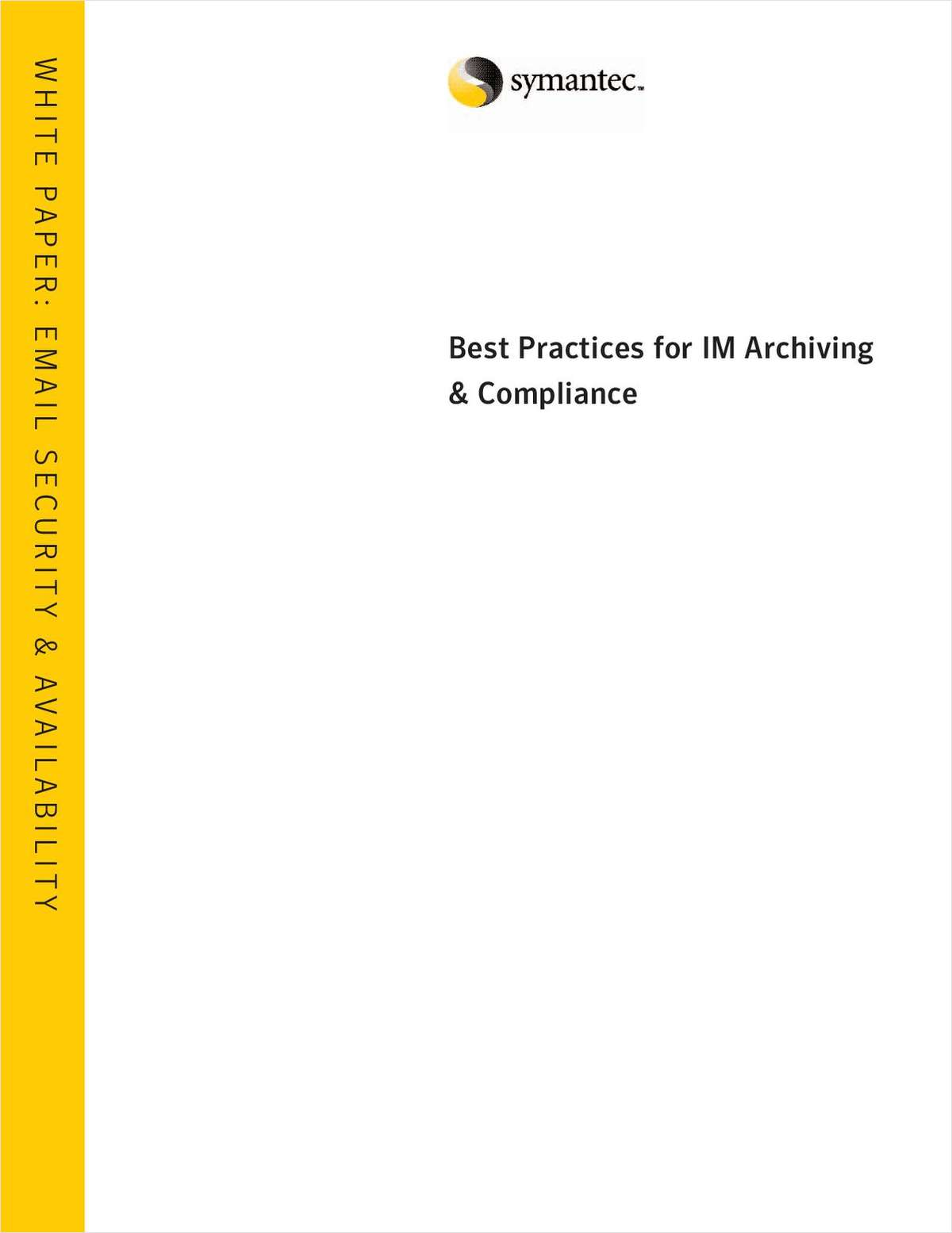 Best Practices for IM Archiving & Compliance