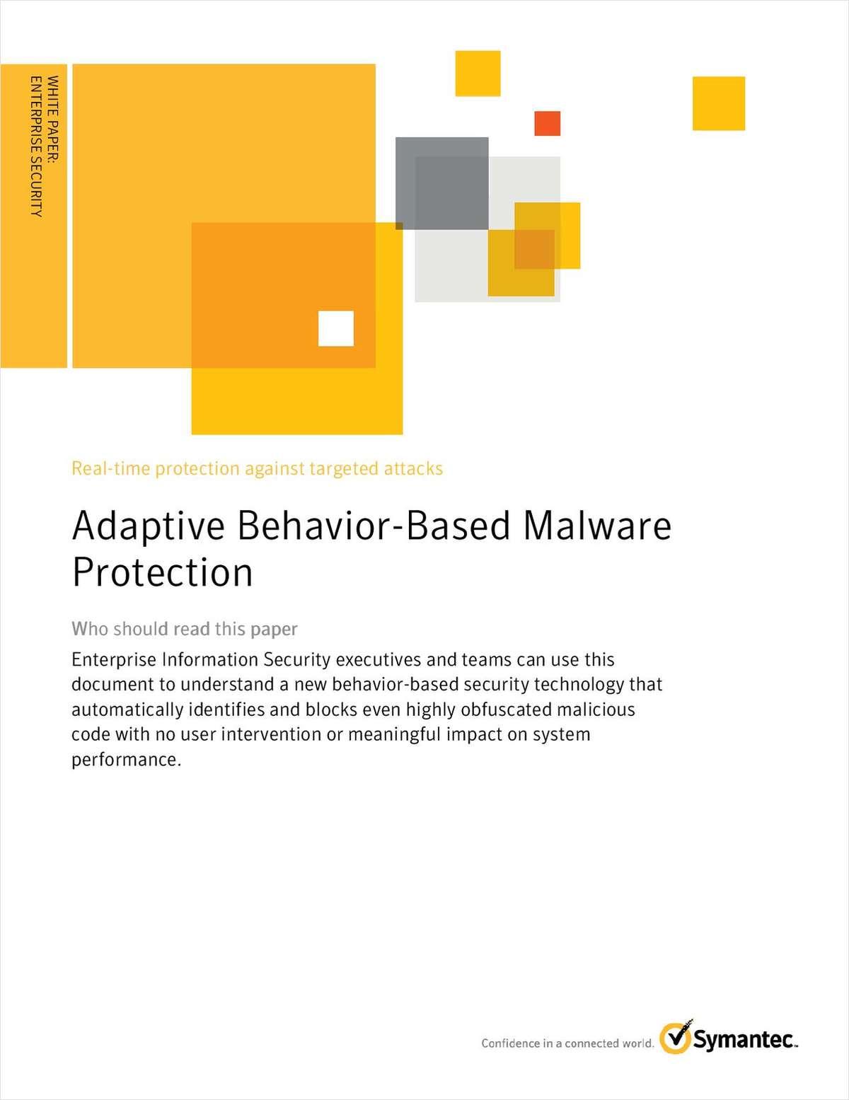 Adaptive Behavior-Based Malware Protection
