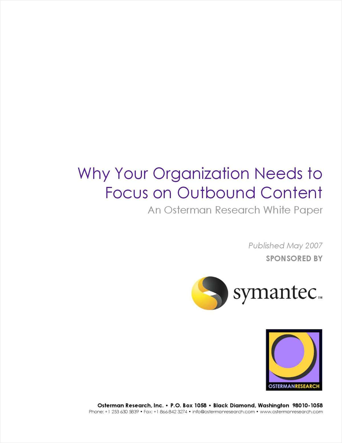 Why Your Organization Needs to Focus on Outbound Content