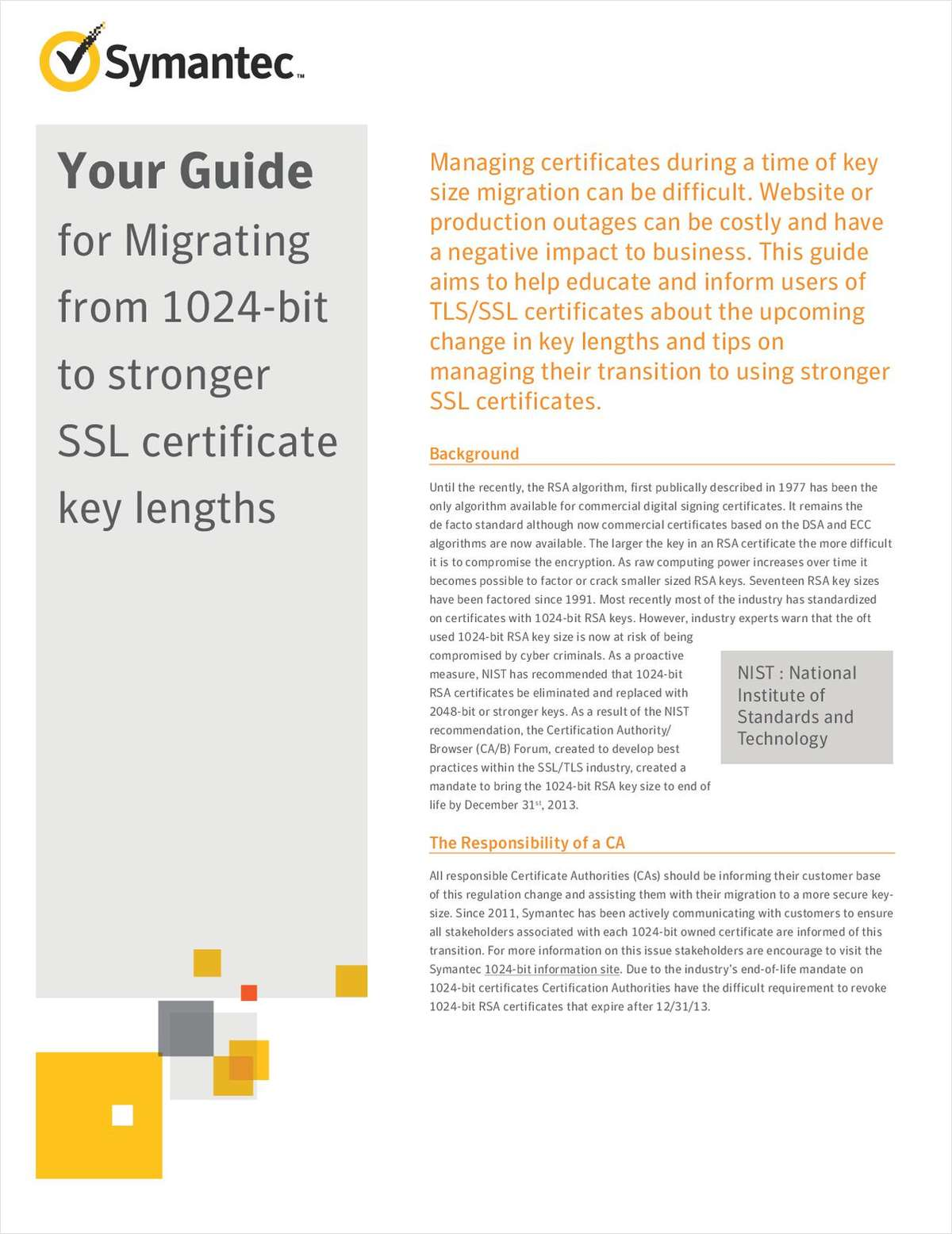 Your Guide for Migrating from 1024-Bit to Stronger SSL Certificate Key Lengths