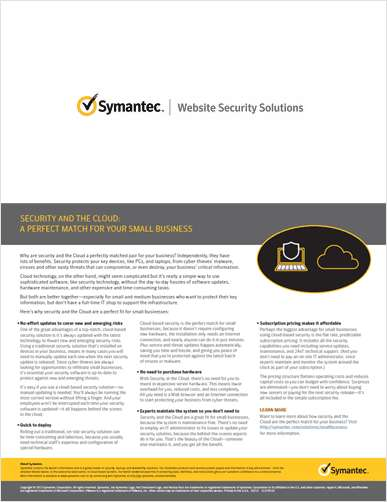 Security and the Cloud: Perfect Match