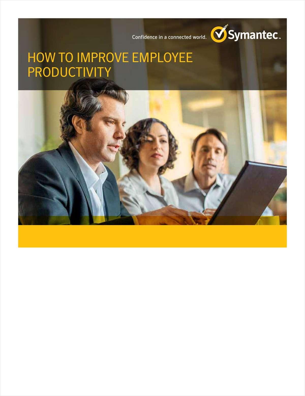 How to Improve Employee Productivity