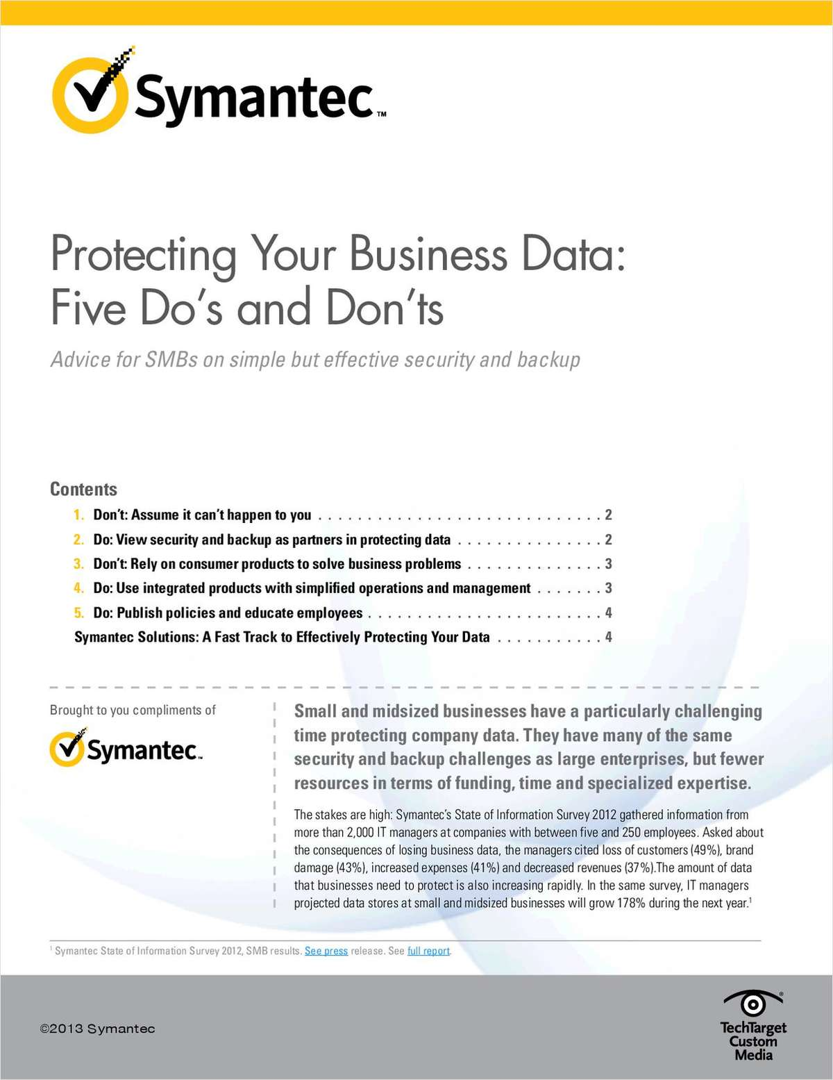 Protecting Your Business Data: Five Do's and Don'ts for SMBs