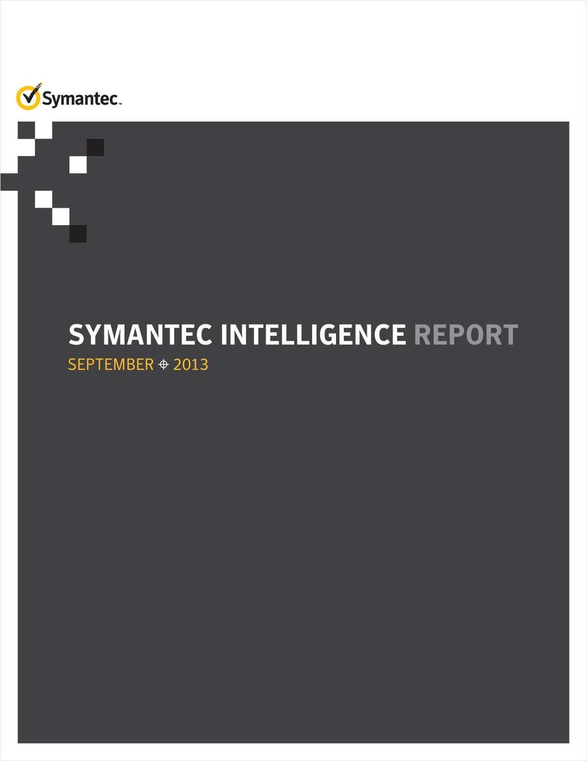 Symantec Intelligence Report September 2013