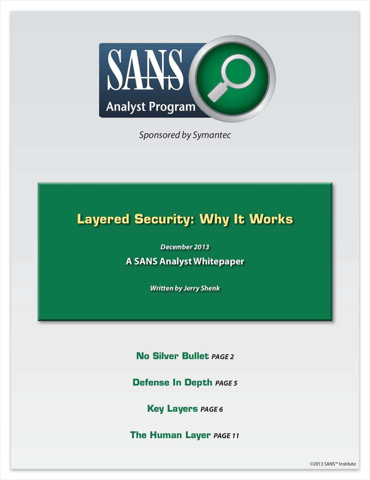 Layered Security: Why It Works
