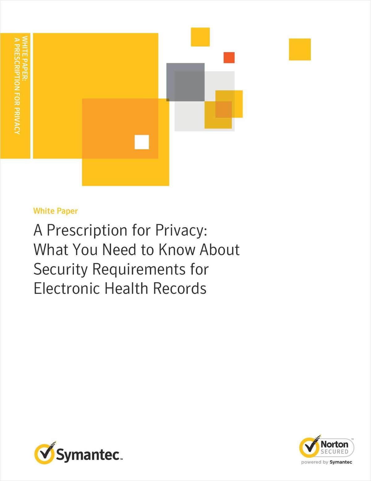 A Prescription for Privacy