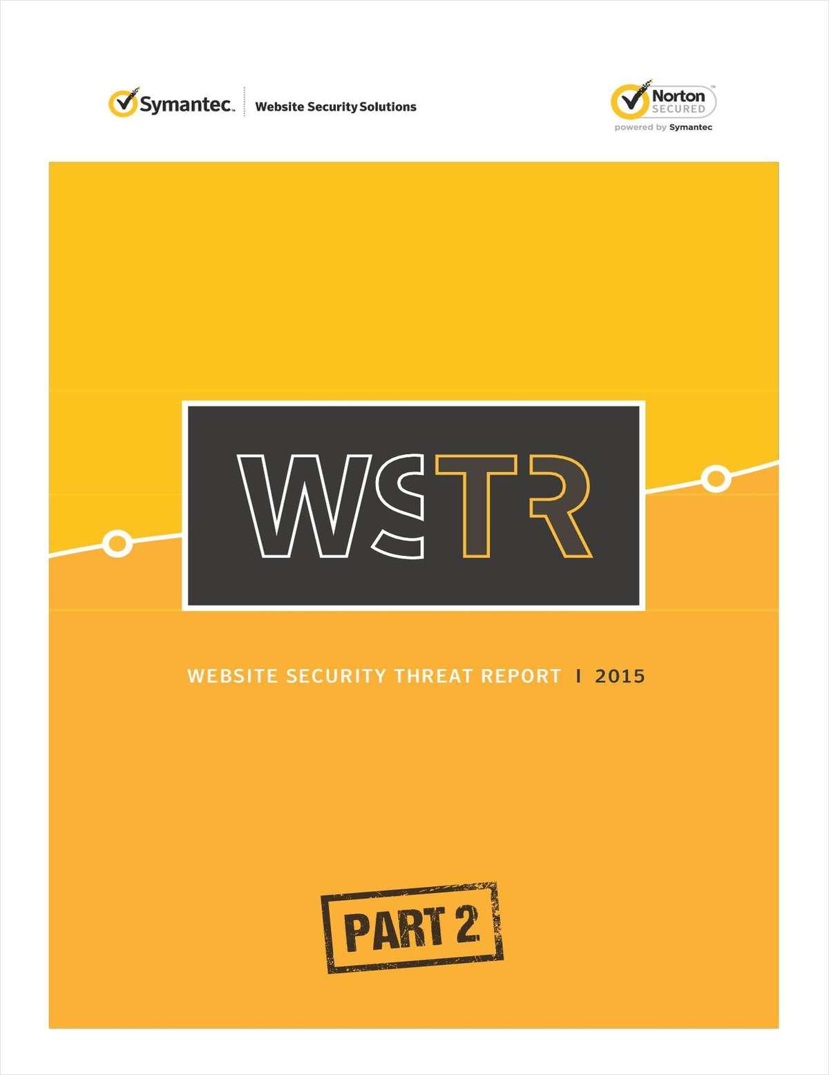 Website Security Threat Report 2015: Part 2