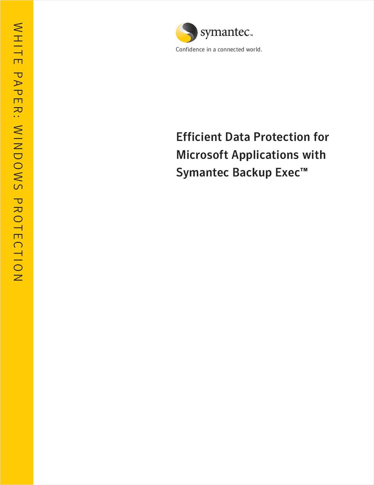 Backup Exec 12: Efficient Data Protection for Microsoft Applications with Symantec Backup Exec™