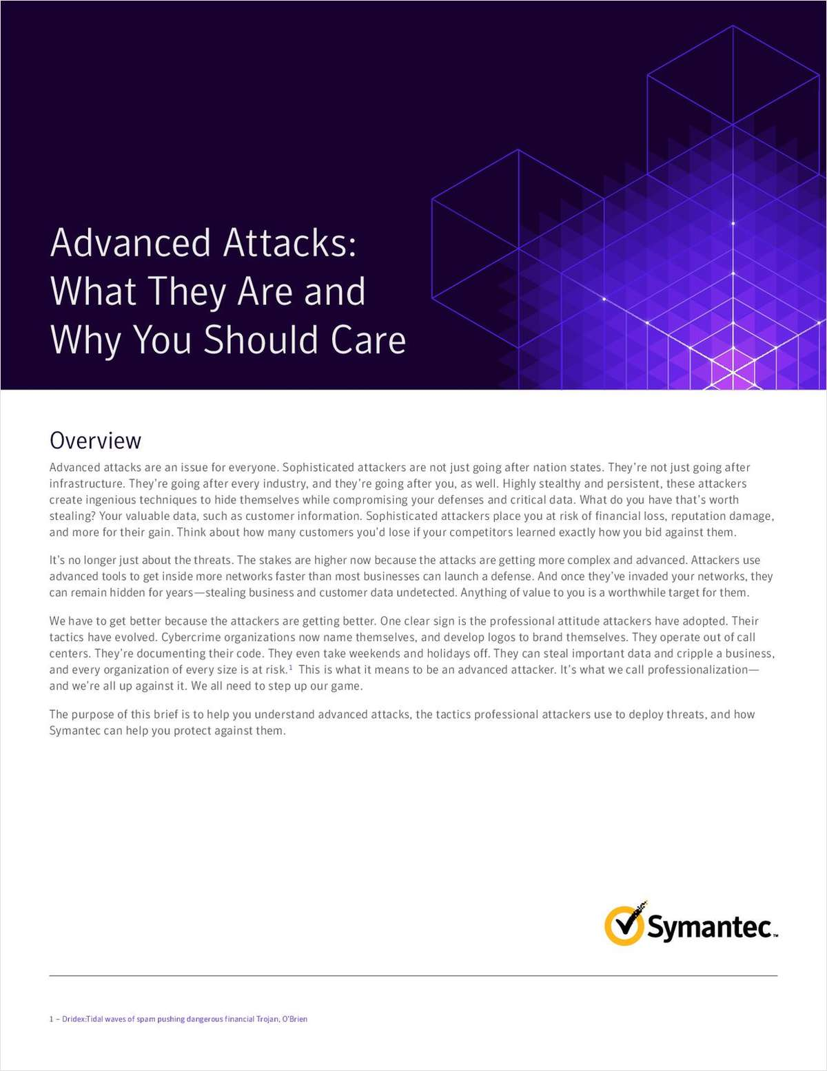 Advanced Attacks: What They Are and Why You Should Care