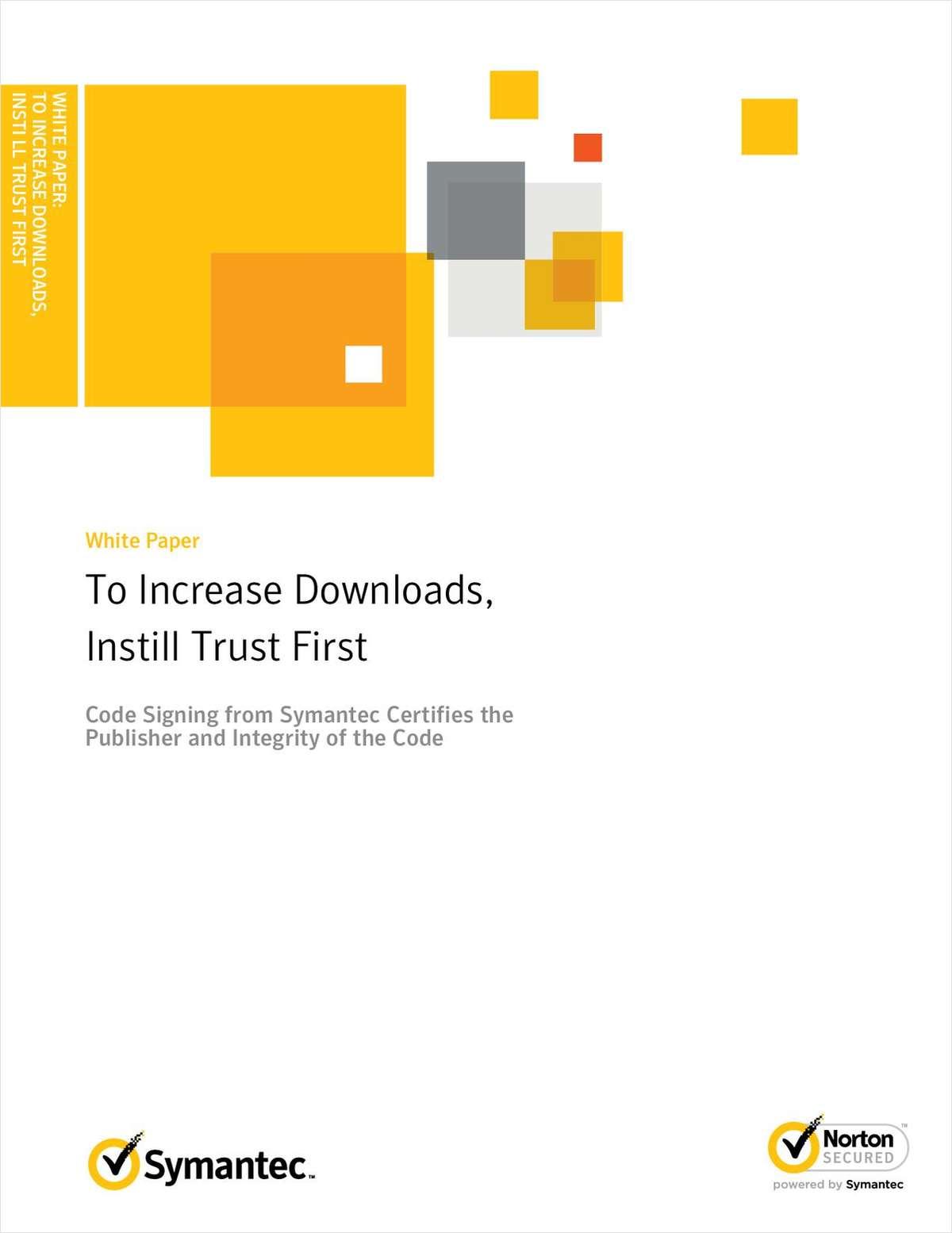 To Increase Downloads Instill Trust First