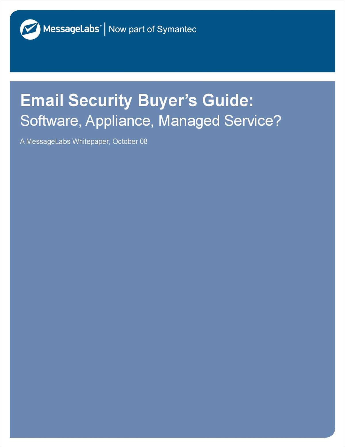 Email Security Buyer's Guide