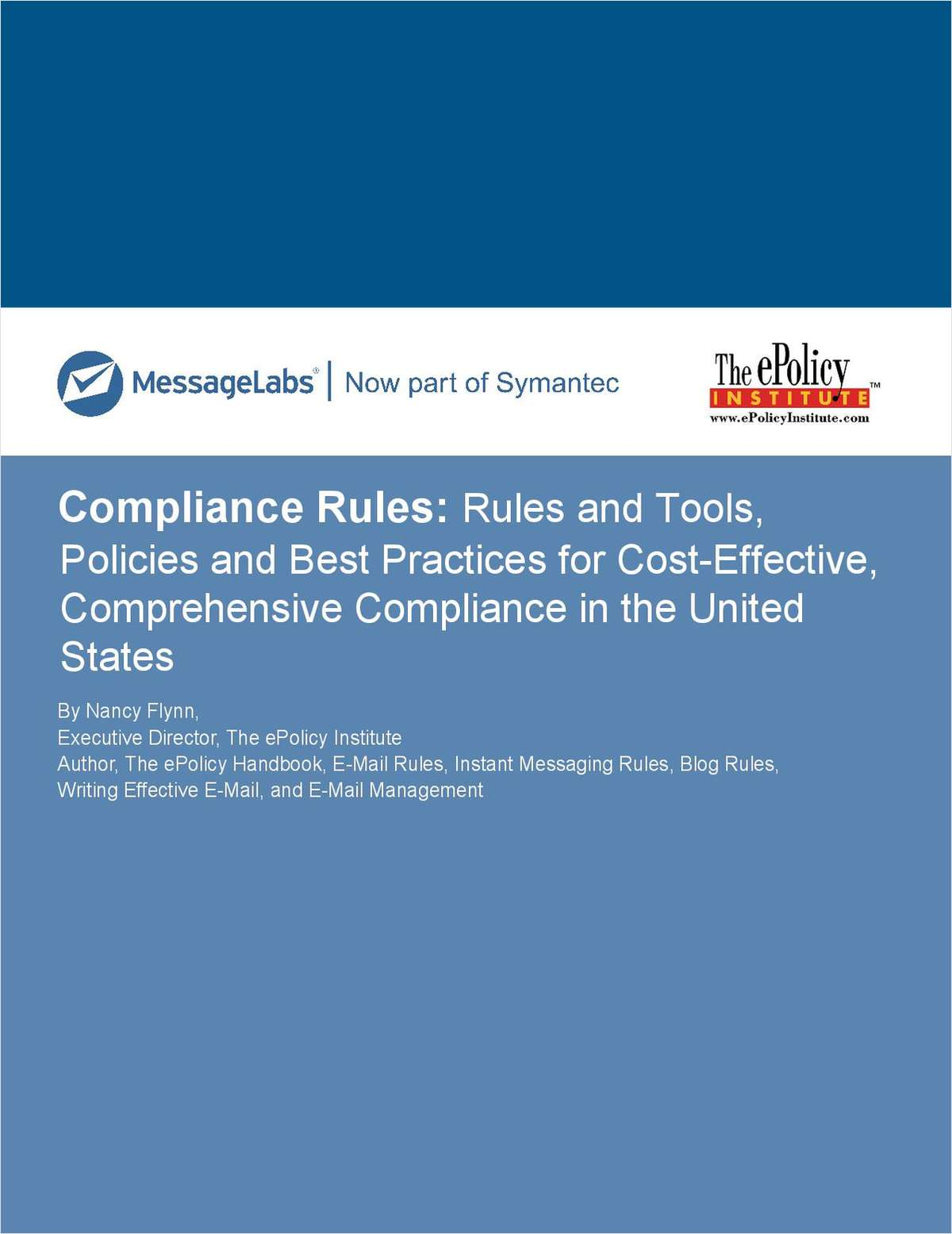 Compliance Rules: Best Practices for Cost-Effective, Comprehensive Compliance
