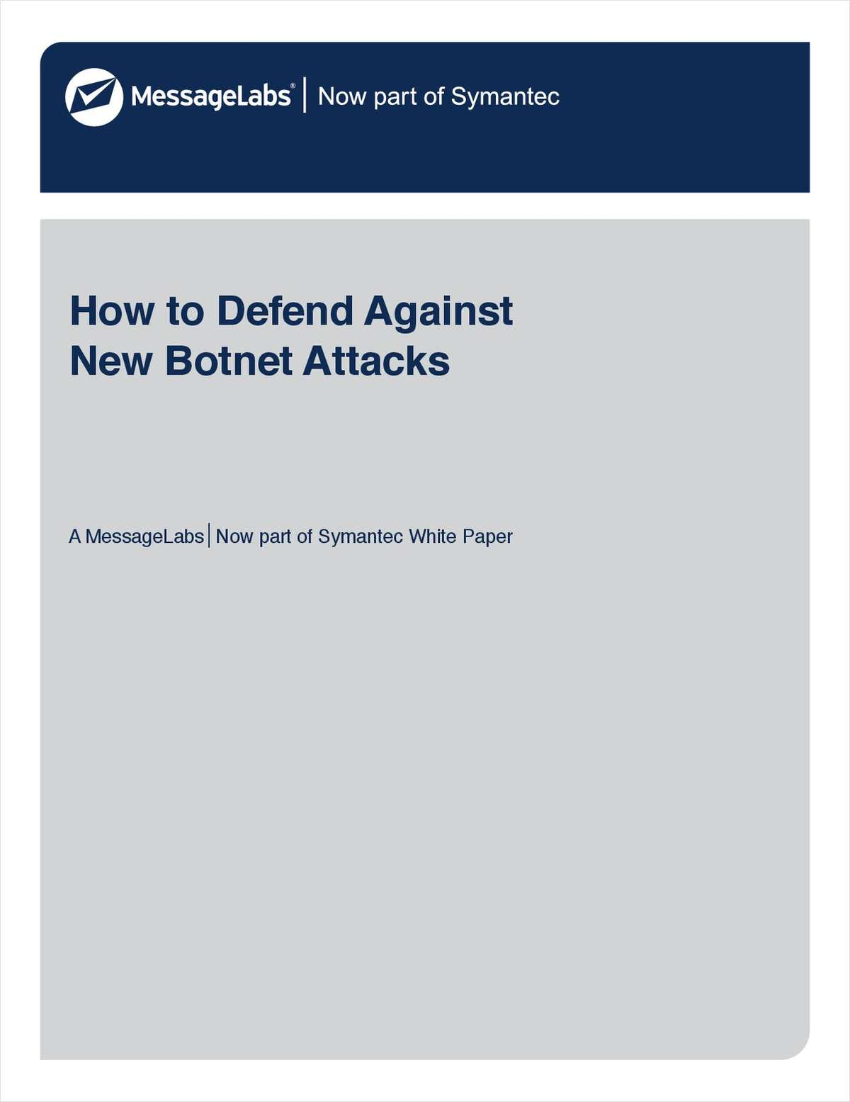 How to Defend Against New Botnet Attacks