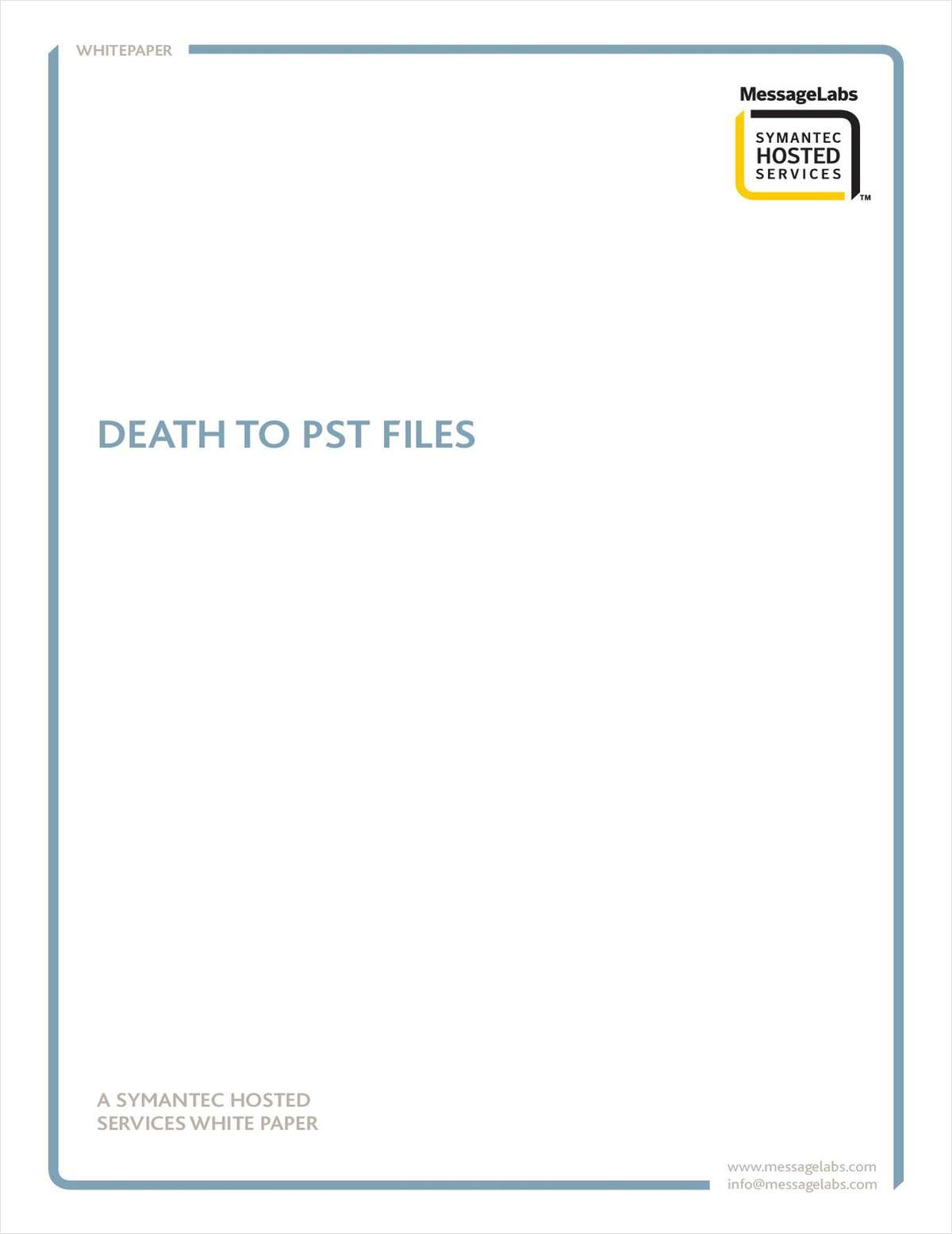 Death to PST Files