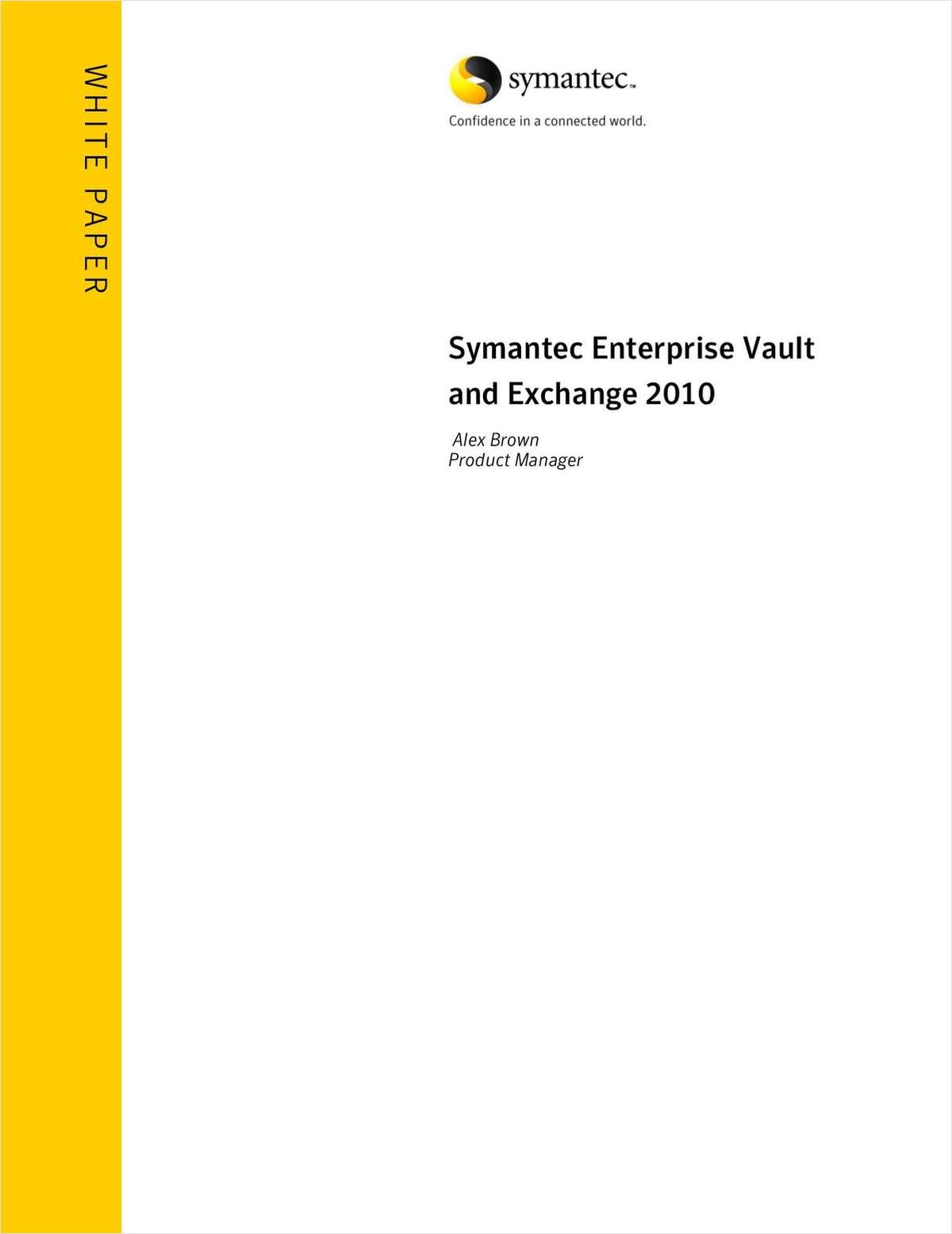 Symantec Enterprise Vault and Exchange 2010