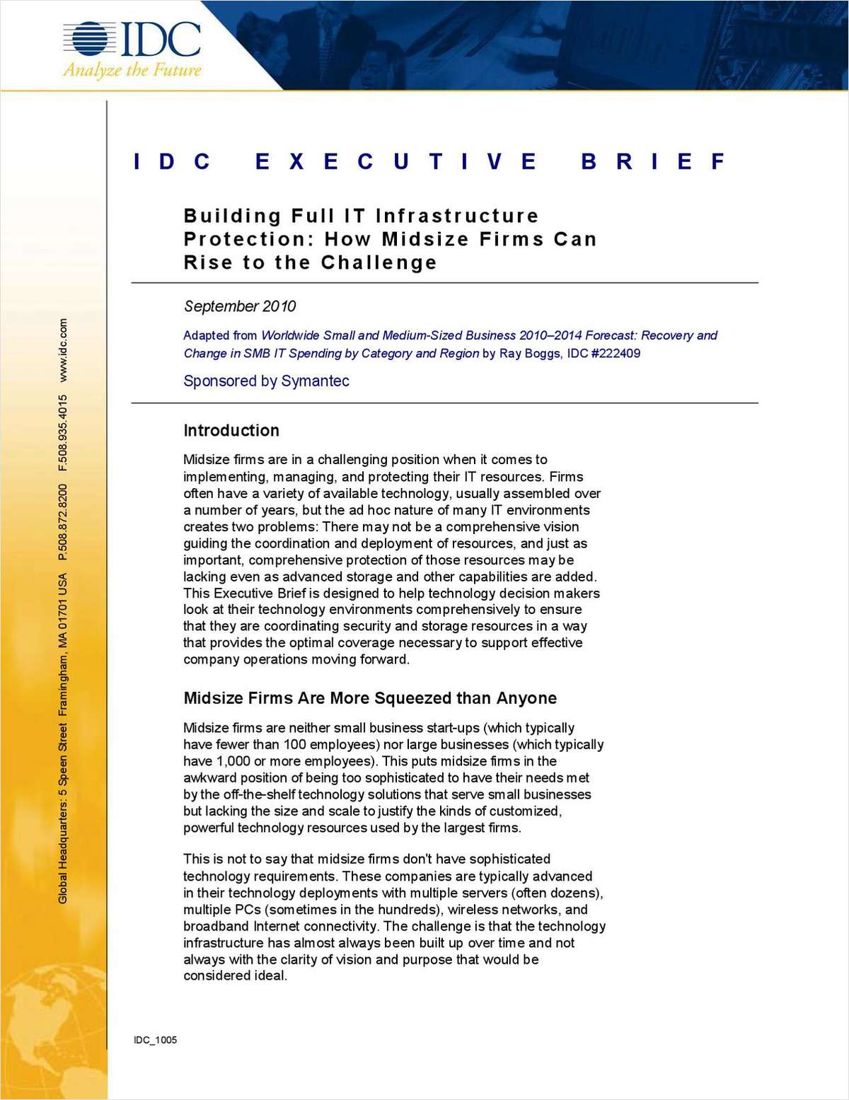 Building Full IT Infrastructure Protection: How Midsize Firms Can Rise to the Challenge