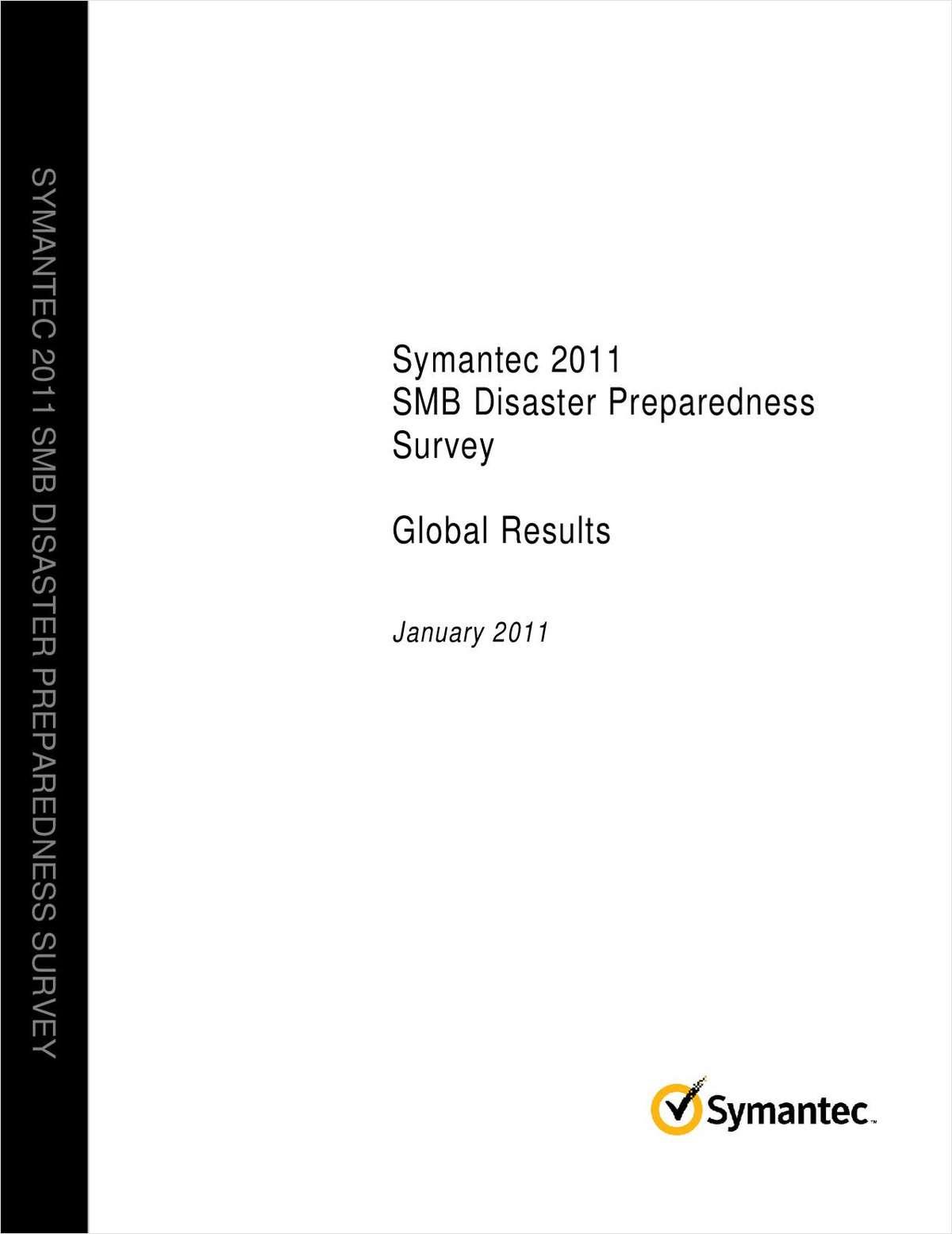 Symantec 2011 SMB Disaster Preparedness Survey