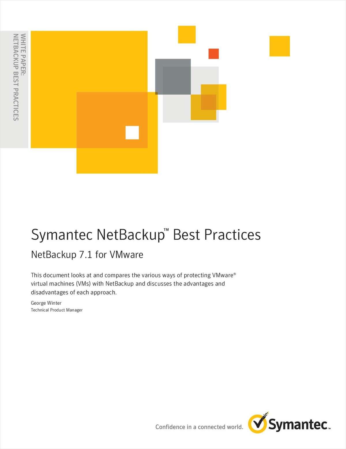 Symantec NetBackup™ Best Practices