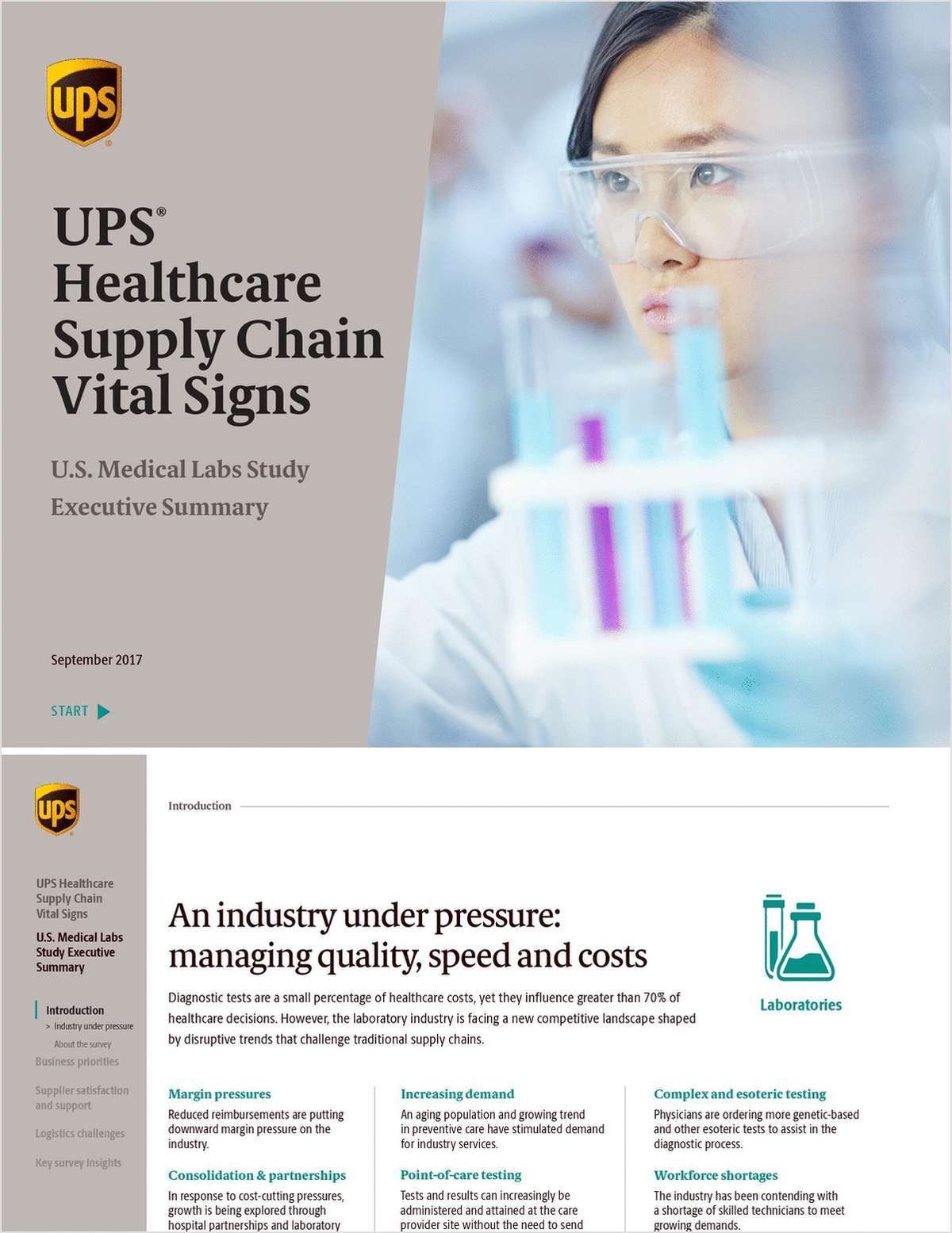 UPS Healthcare Supply Chain Vital Signs