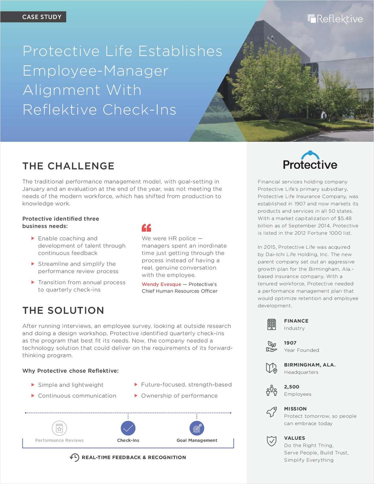 Protective Life Establishes Employee-Manager Alignment With Check-Ins
