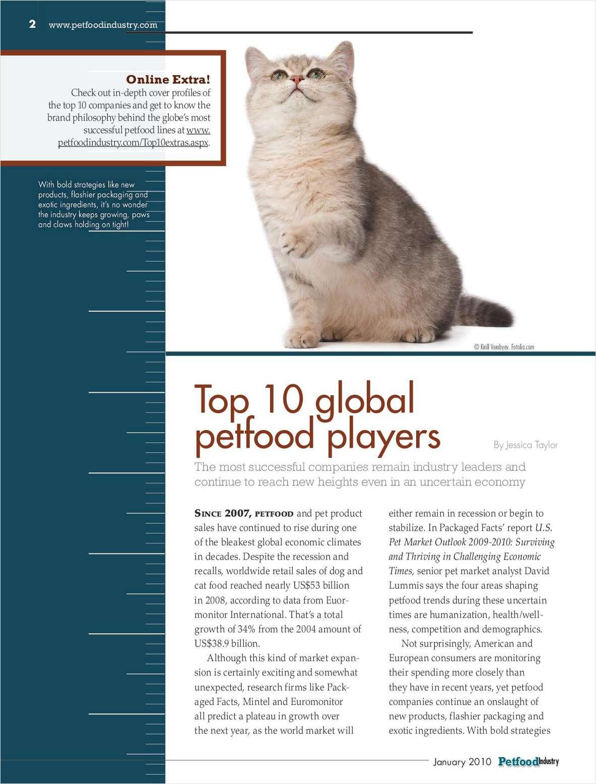 Top 10 Global Petfood Players – Executive Brief