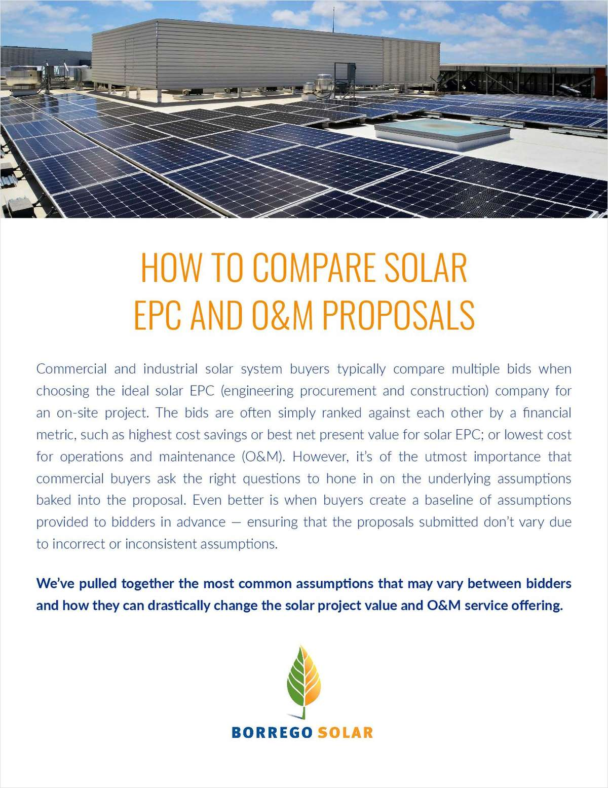 How To Compare Solar EPC and O&M Proposals
