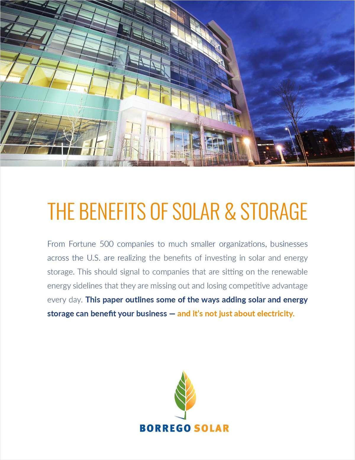 The Benefits of Solar & Energy Storage?
