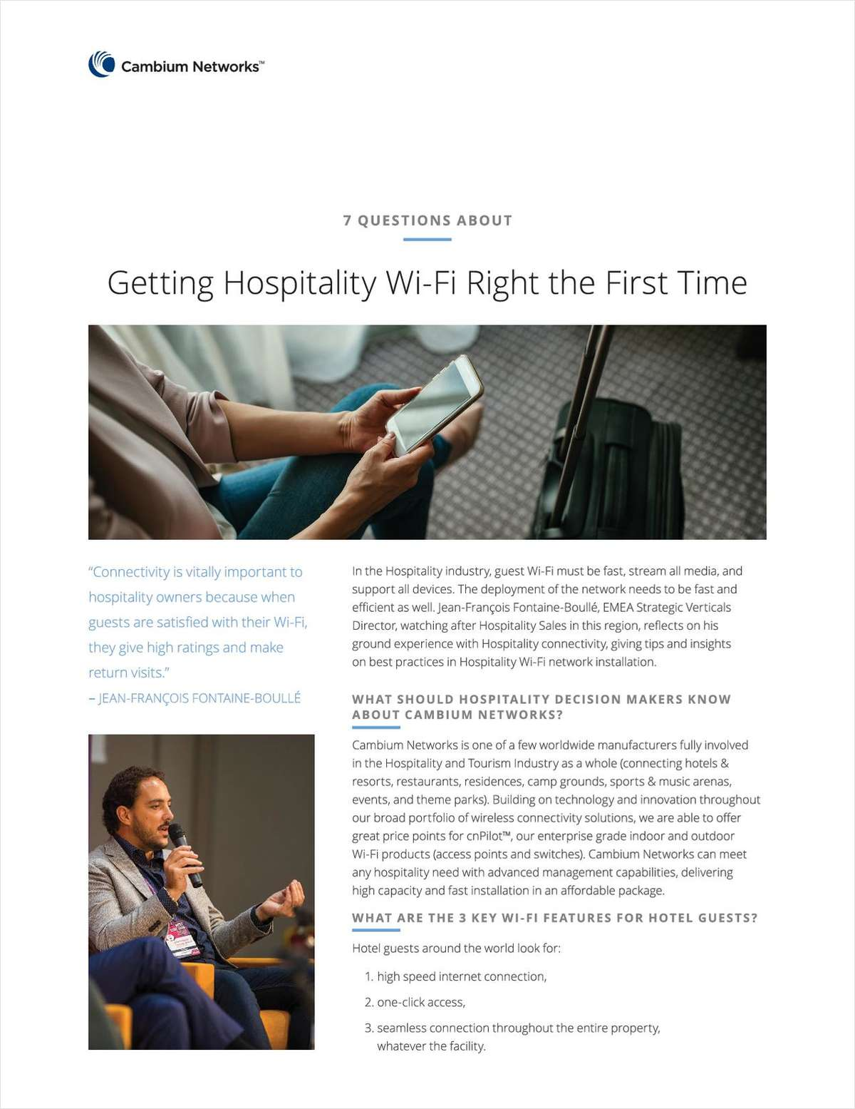 Getting Hospitality Wi-Fi Right the First Time