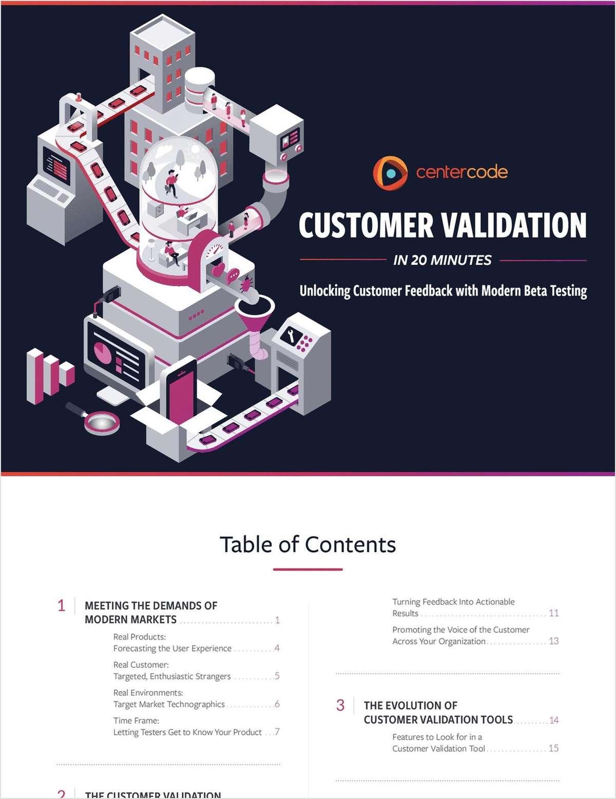 Customer Validation in 20 Minutes