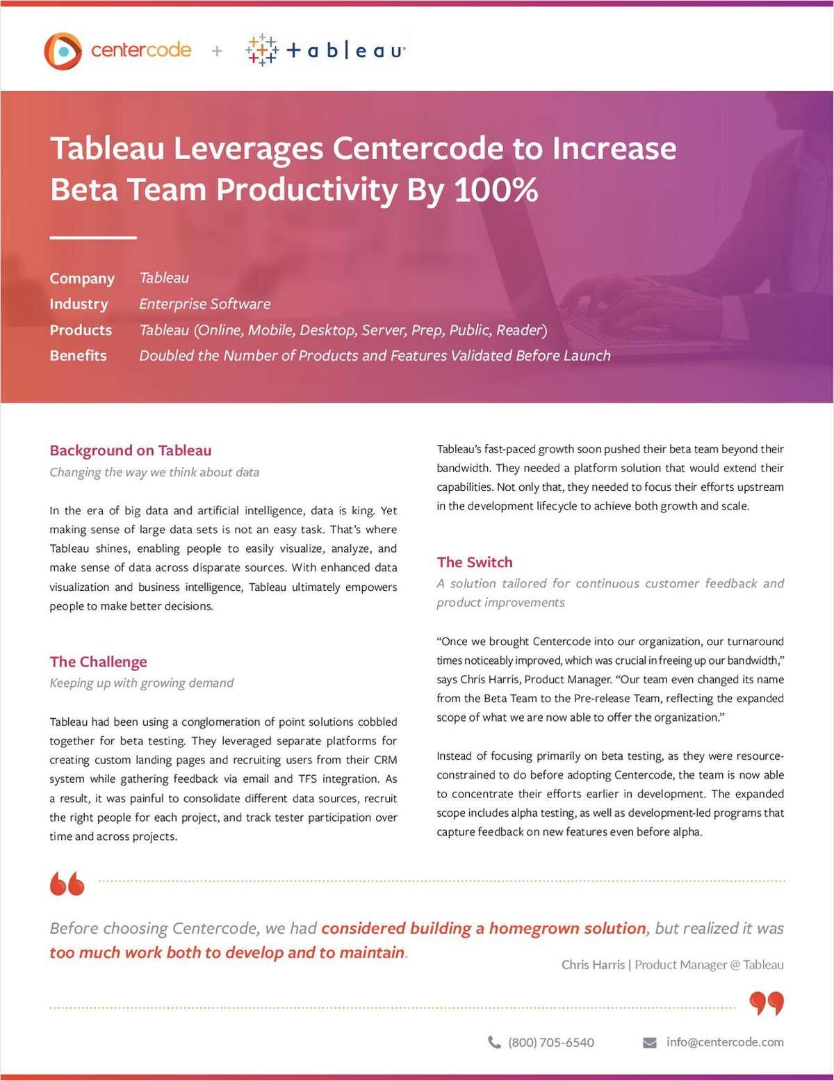 Centercode + Tableau Case Study